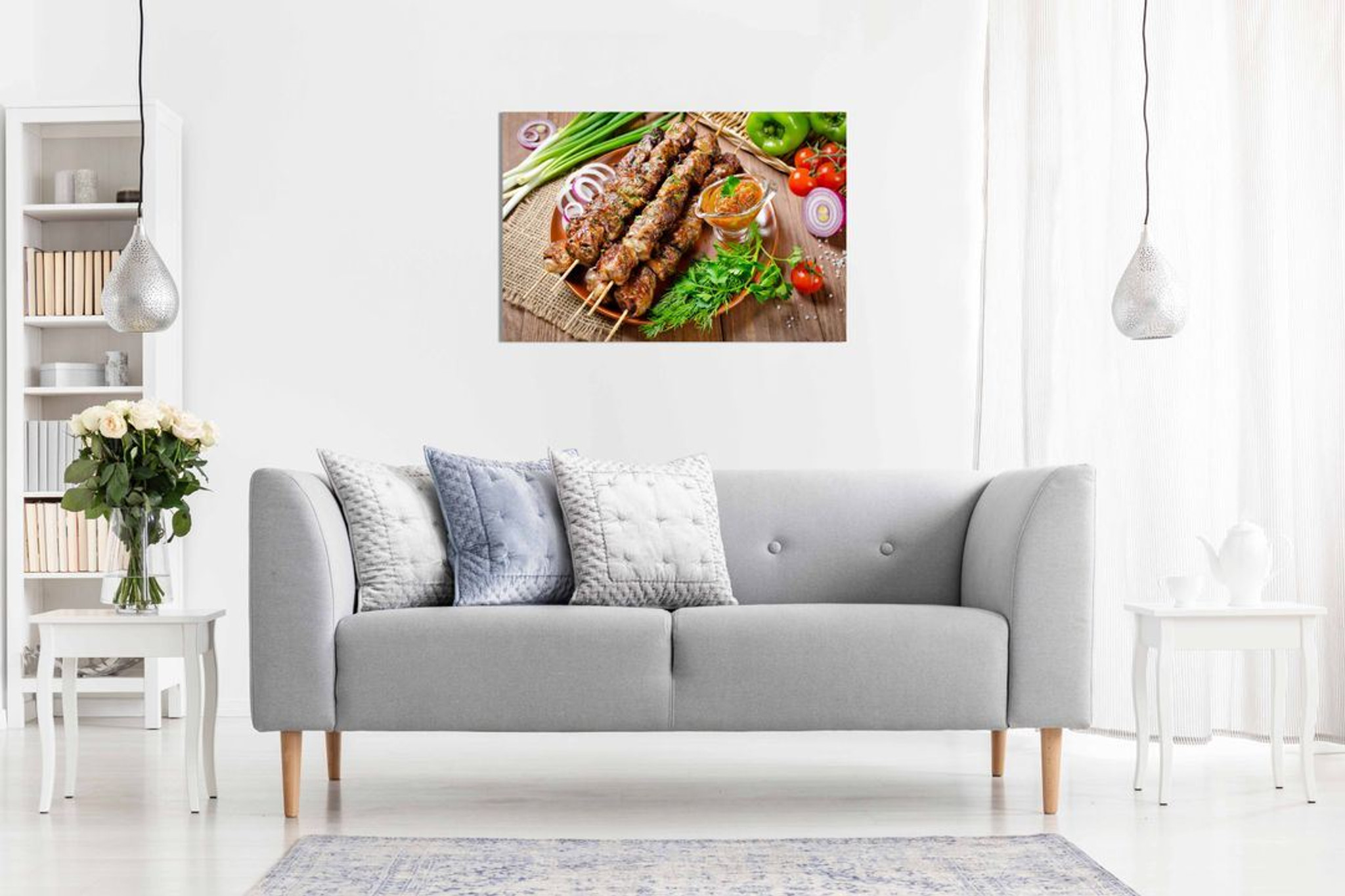 Donor Kebab Grill Turkish Restaurant Decor Kabob Food Canvas Wall Art Picture Print Home Decor