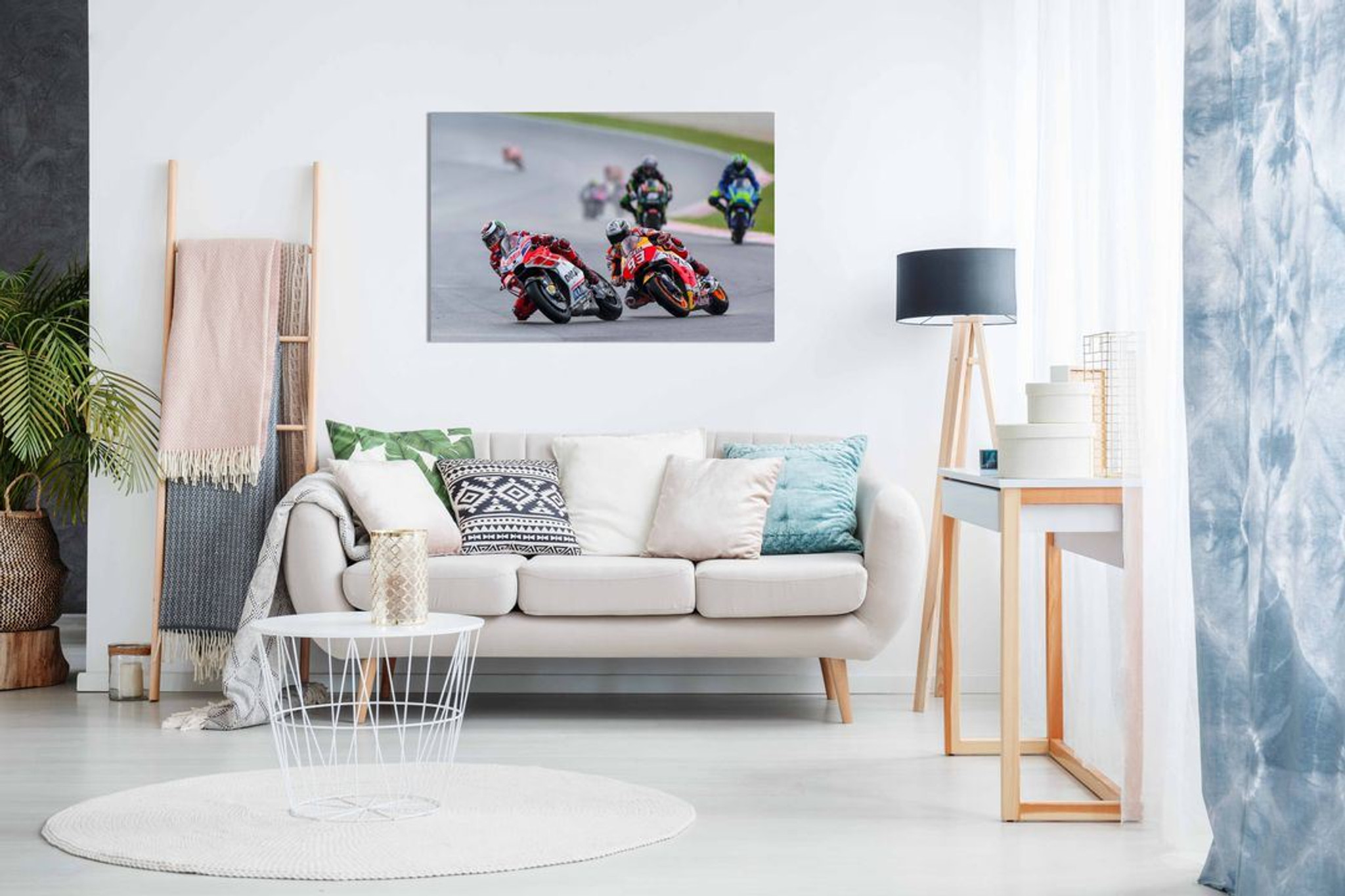 Jorge Lorenzo & Marc Marquez Moto GP Canvas Wall Art Picture Print Home Decor