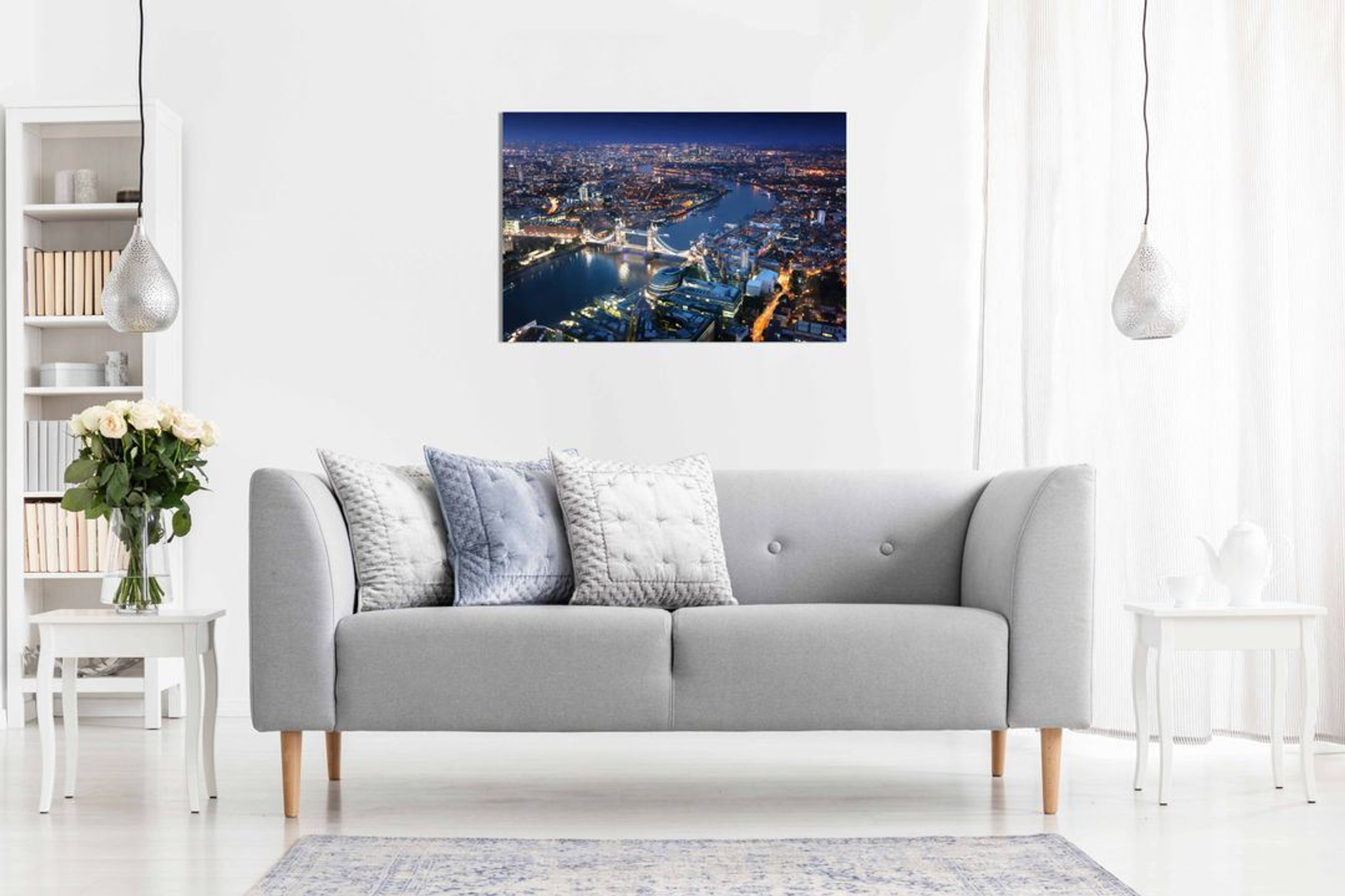 London Skyline Canvas Wall Art Picture Print Home Decor