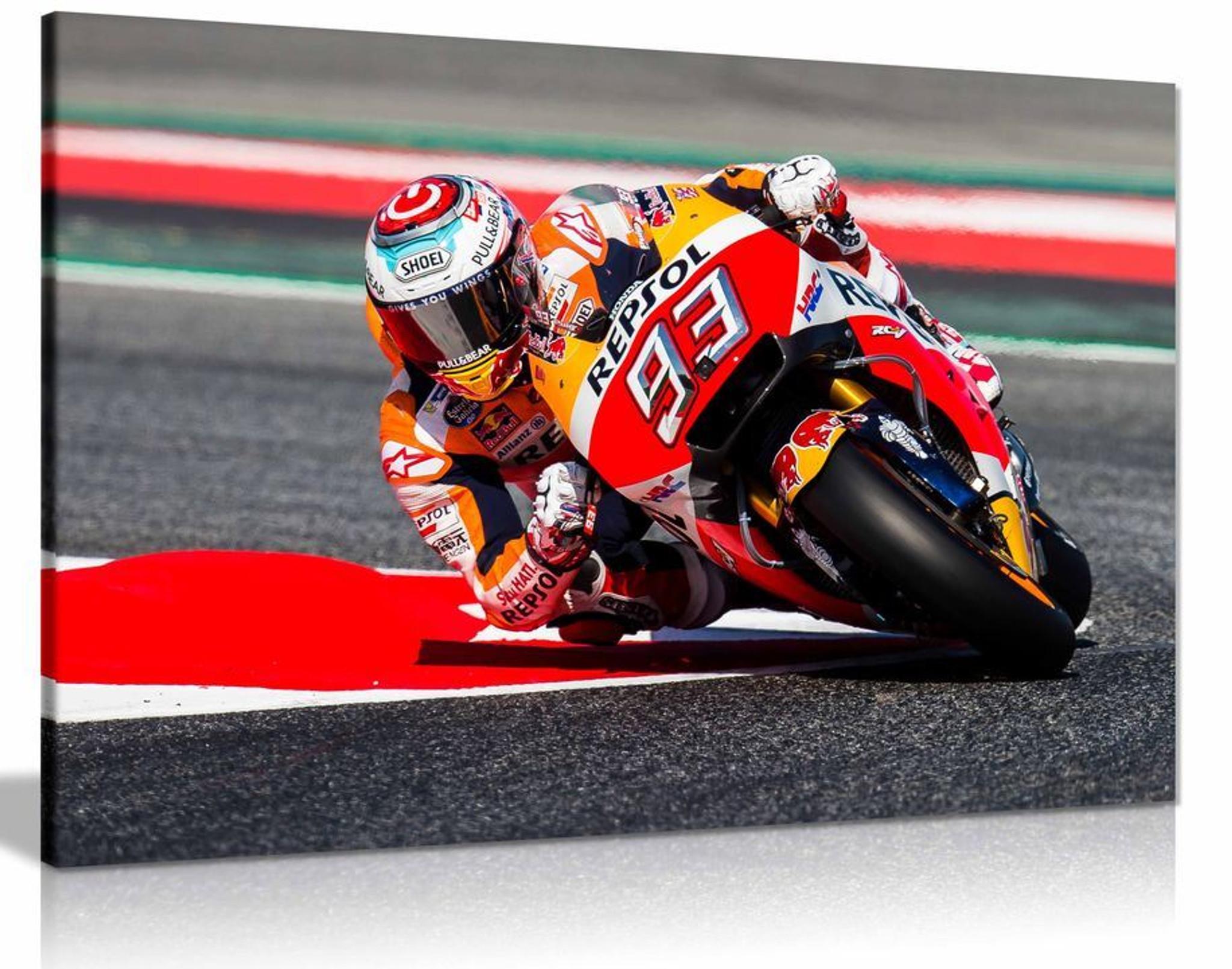 Marc Marquez Moto GP Motorbike Canvas Wall Art Picture Print Home Decor