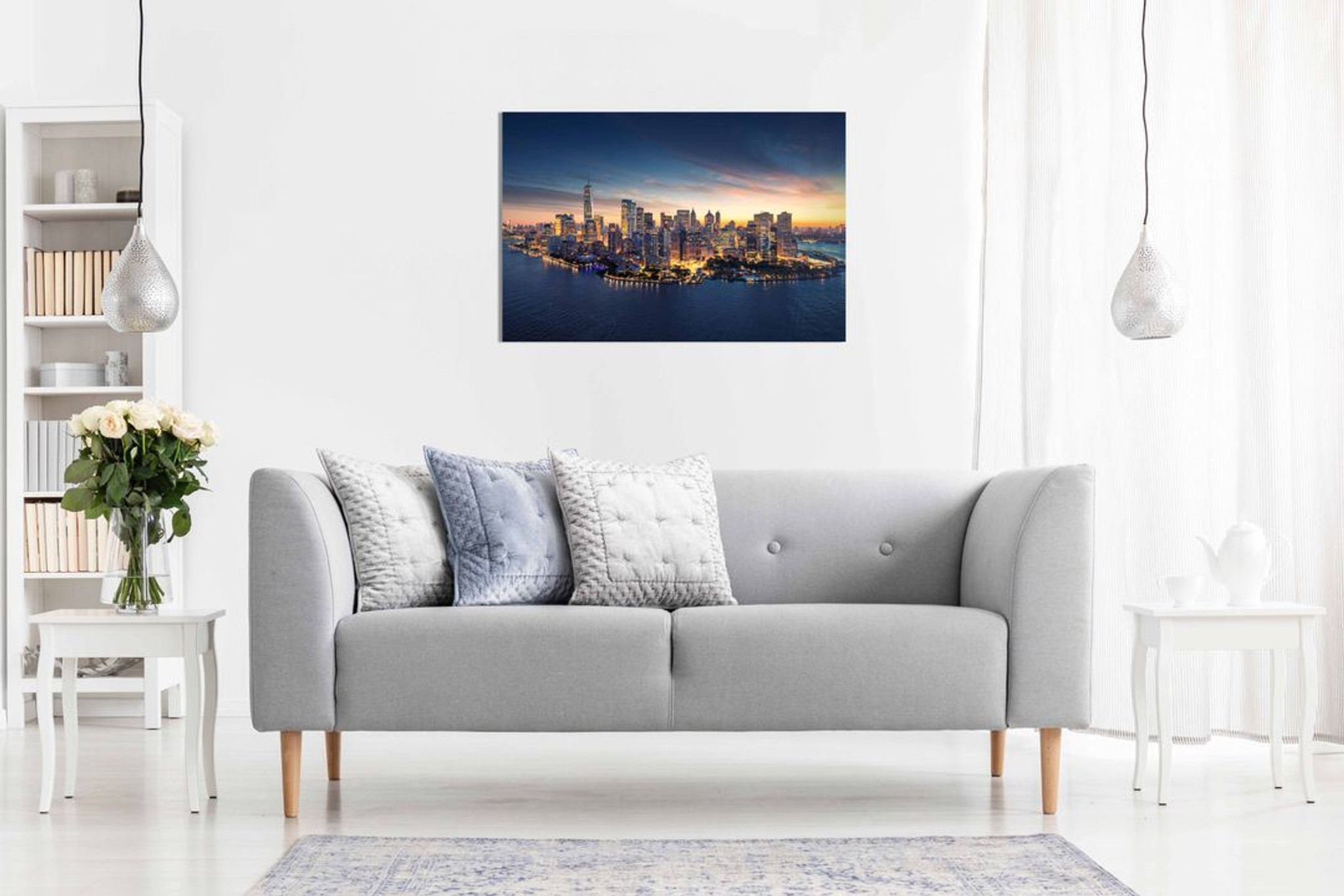 New York Skyline Canvas Wall Art Picture Print Home Decor