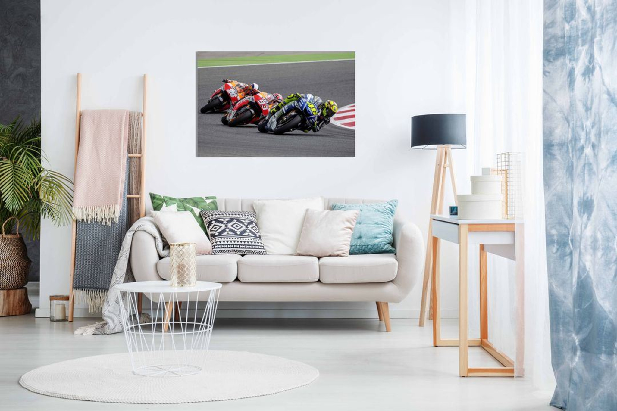 Valentino Rossi Marc Marquez  Dani Pedrosa Moto GP Canvas Wall Art Picture Print Home Decor