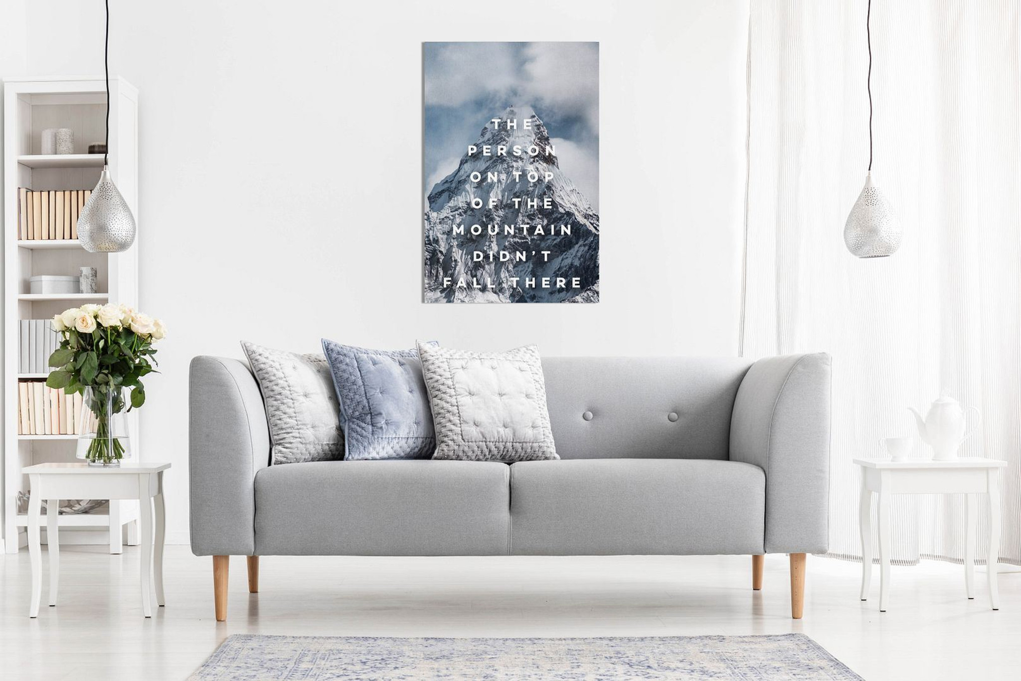 Inspirational Motivational Quotes Framed Canvas Wall Art Picture Prints Inspiring for Home Office Study Decor