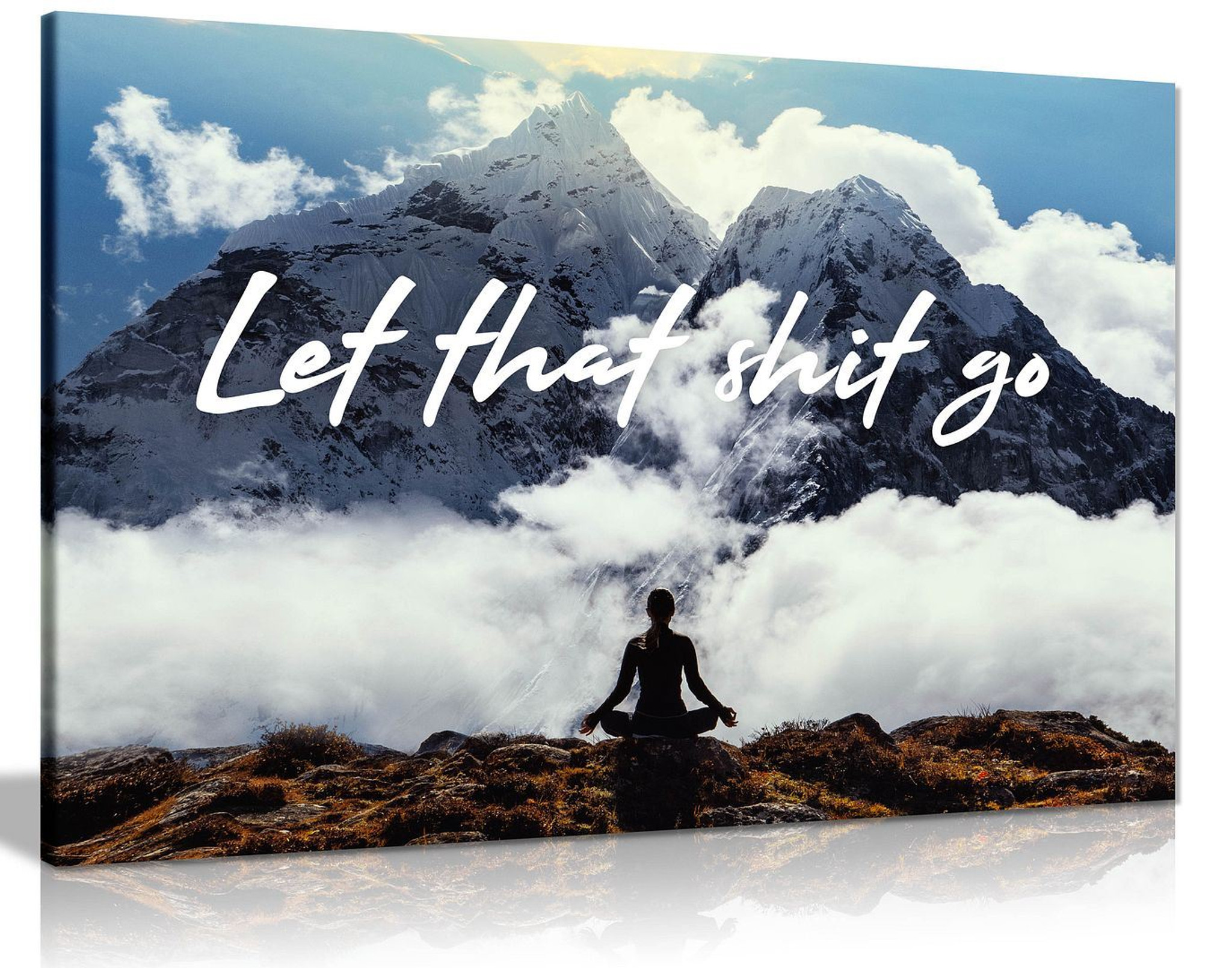 Let That Shit Go Healing Meditation Canvas Wall Art Picture Print Home Decor