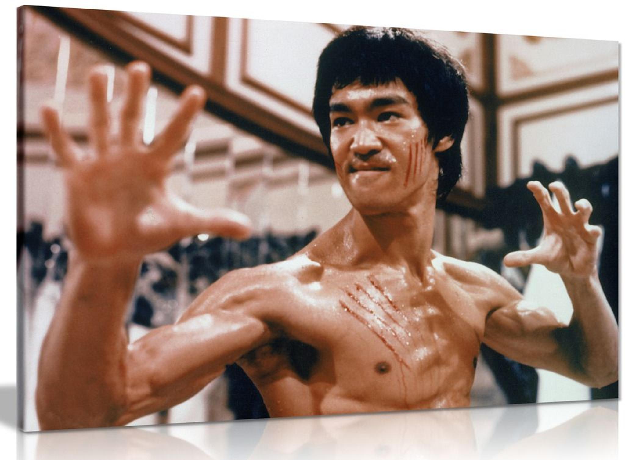 Bruce Lee Enter The Dragon Martial Arts Canvas