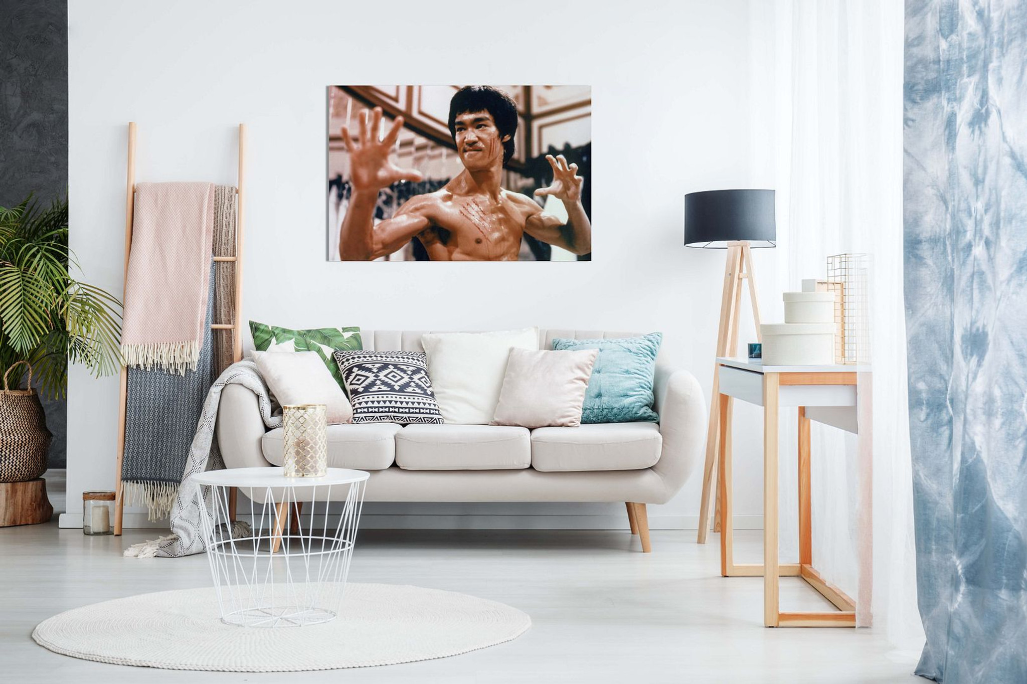Bruce Lee Enter The Dragon Martial Arts Canvas