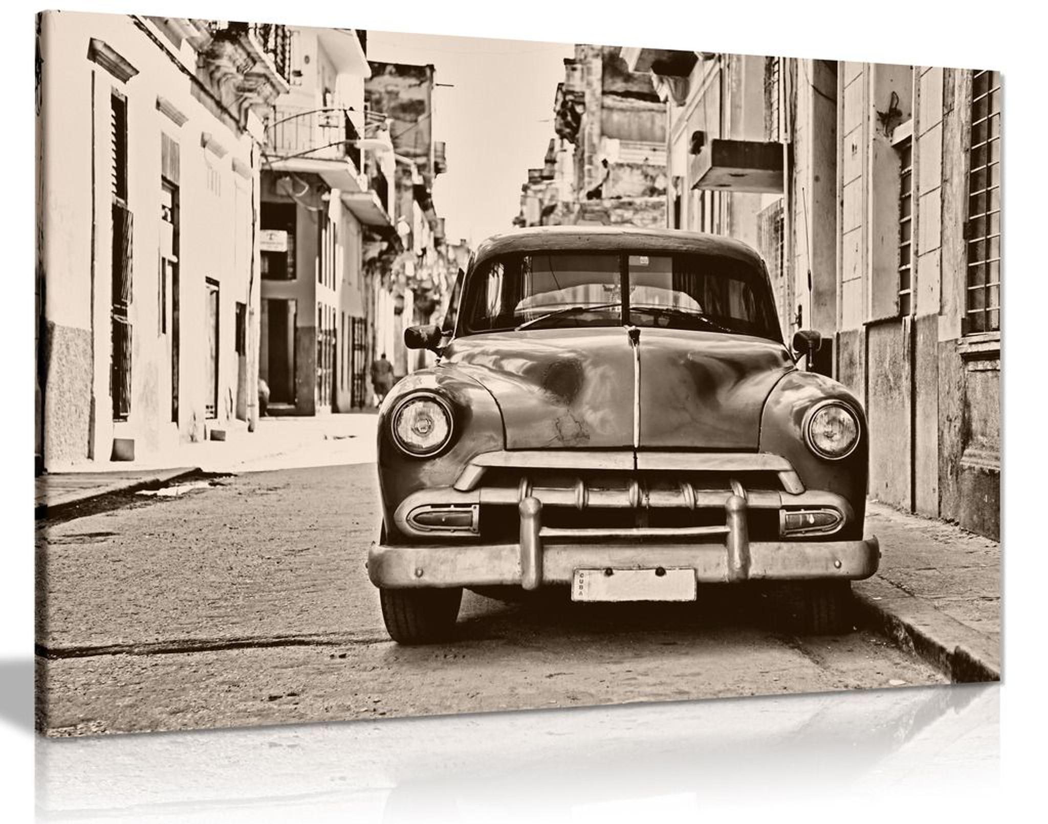 Vintage Cuban Car Canvas