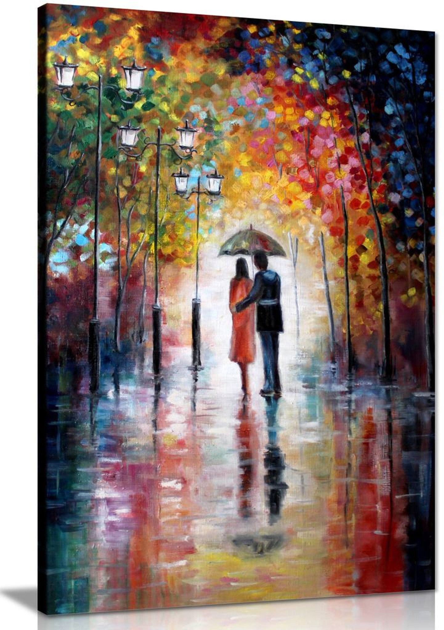 Art For Home Lovers Under Umbrella Painting Canvas