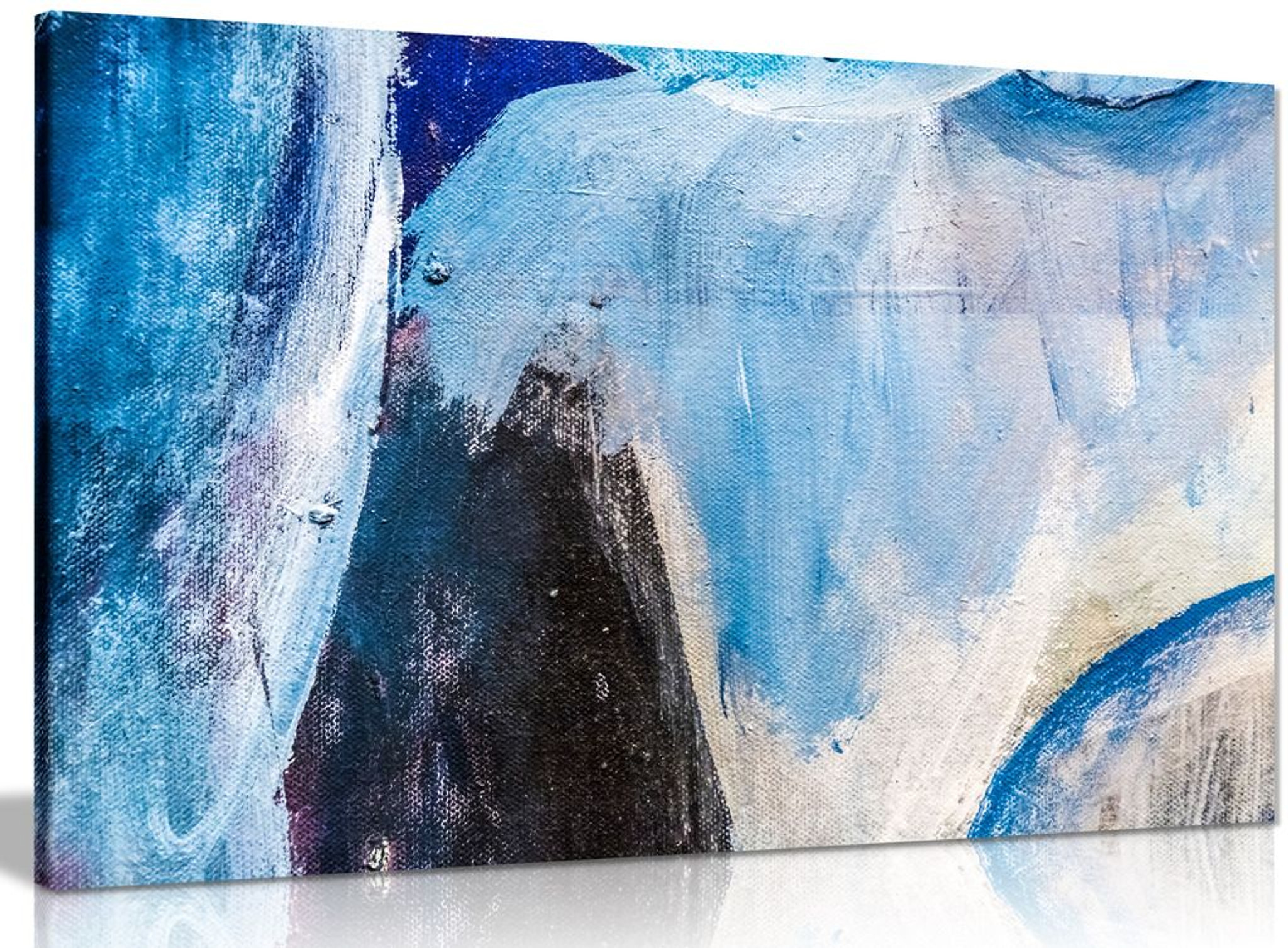 Blue Wall Art Abstract Canvas
