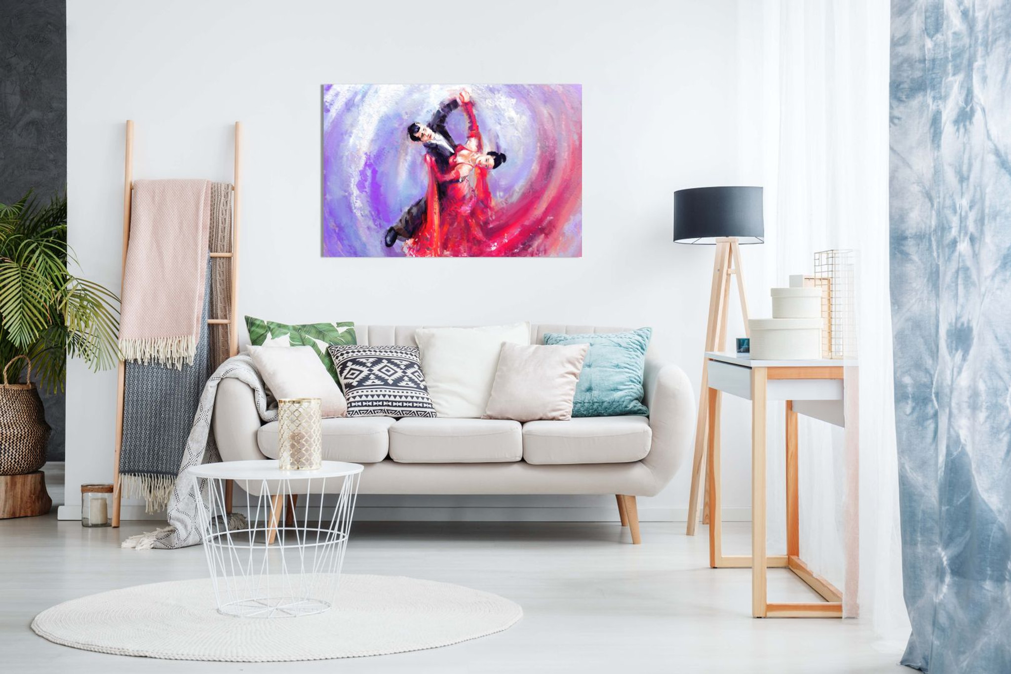 Romantic Ballroom Dancers Wall Painting Canvas