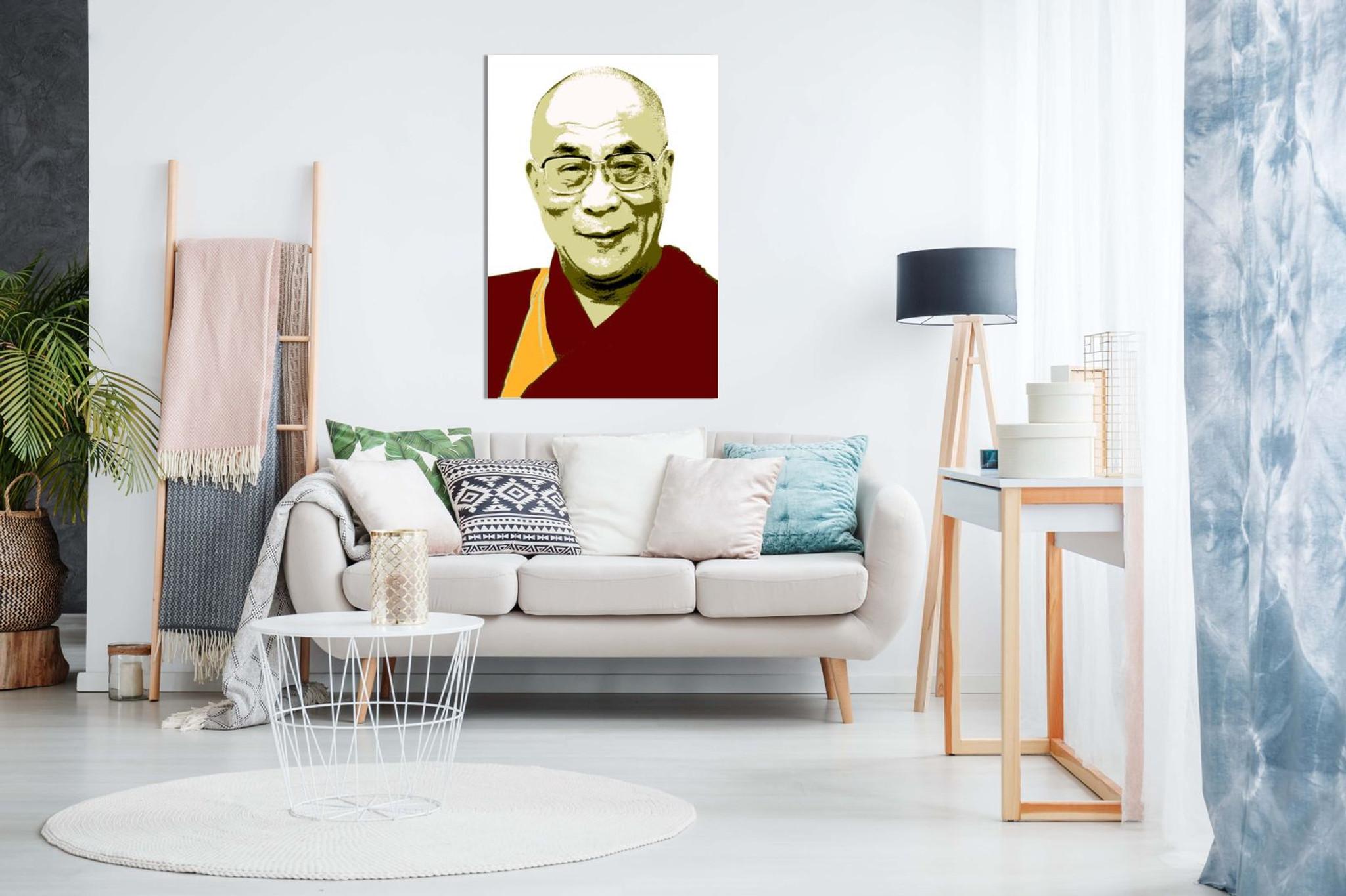 The Dalai Lama Spiritual Monk Canvas