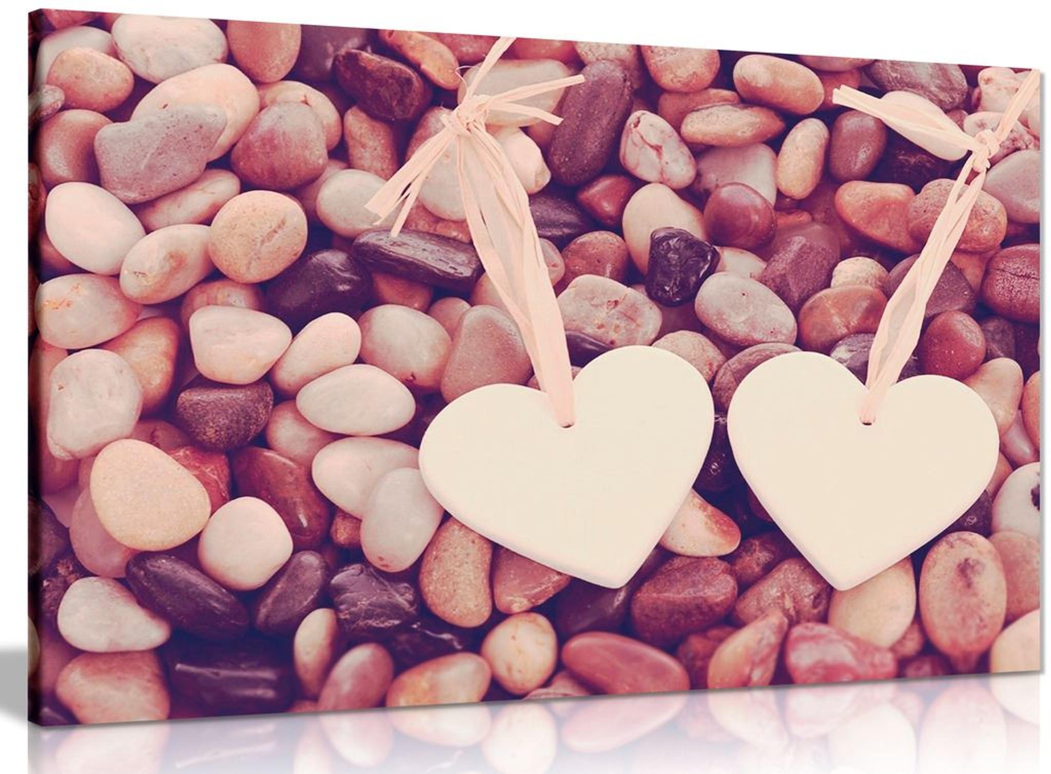 Love Hearts Stone Canvas