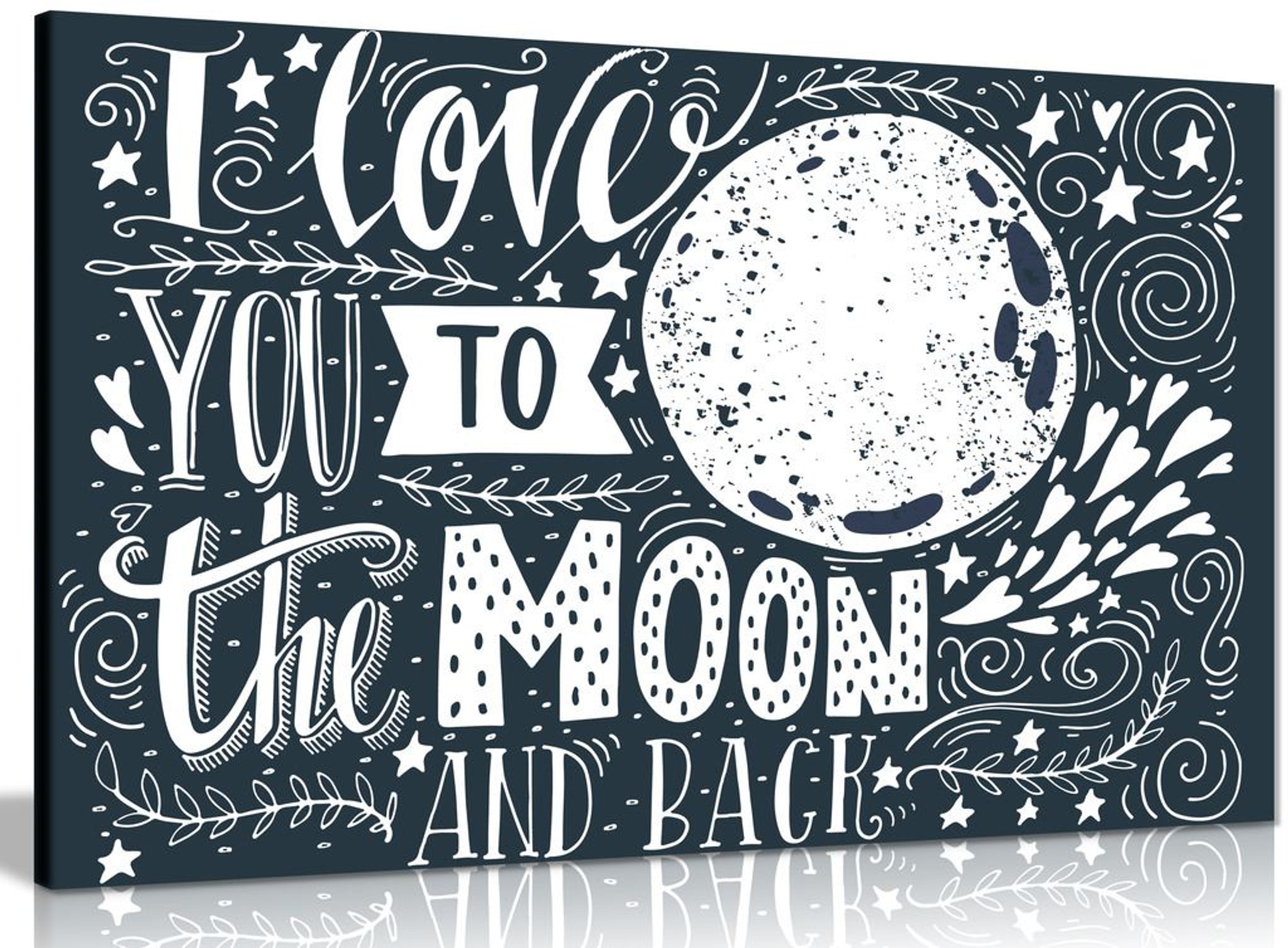 Love you to the Moon and back Space