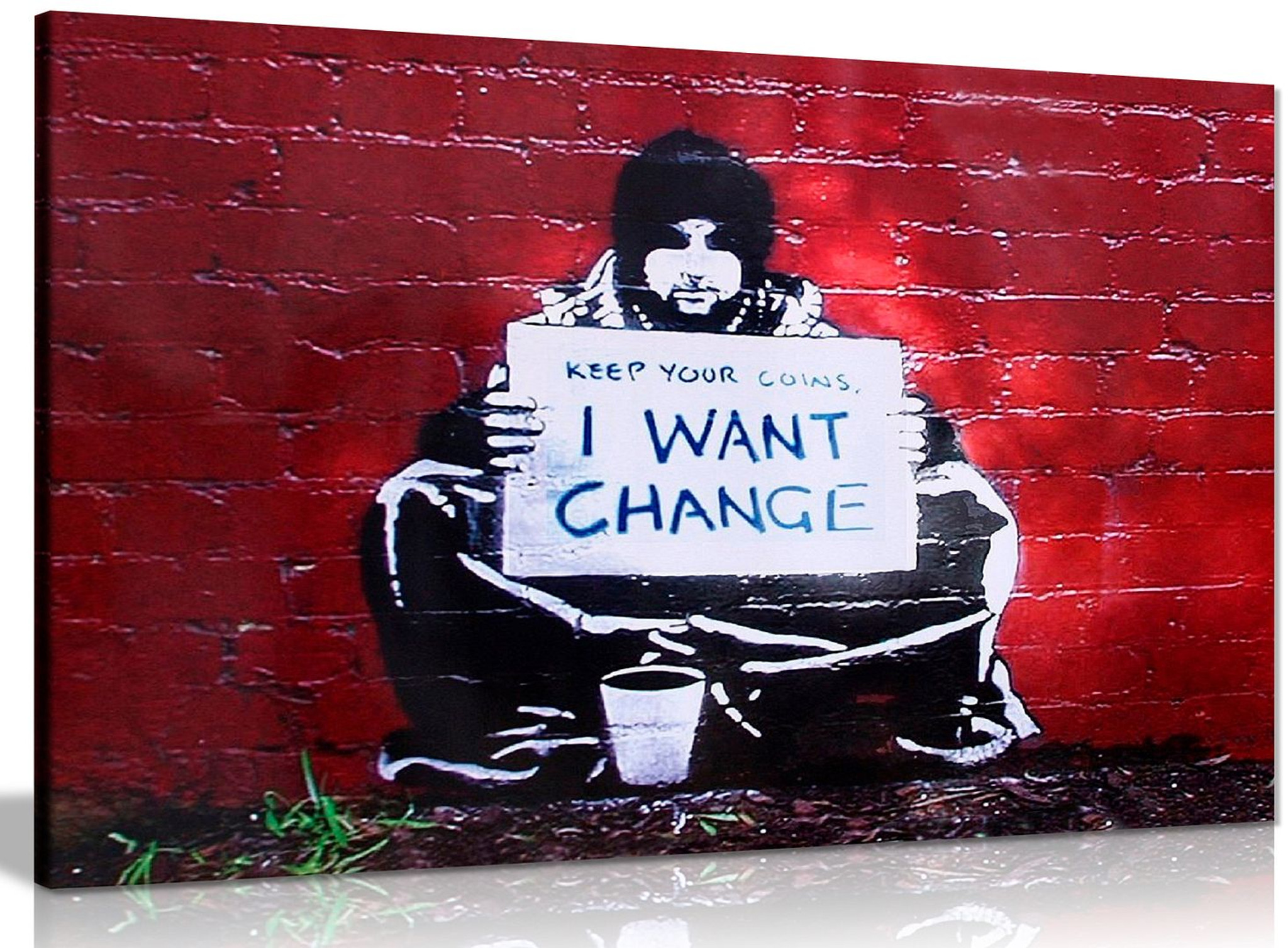 Banksy Keep Coins I Want Change Canvas