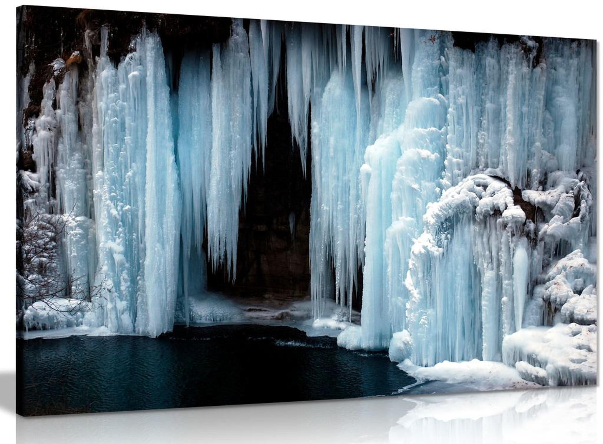 Frozen Waterfall Canvas