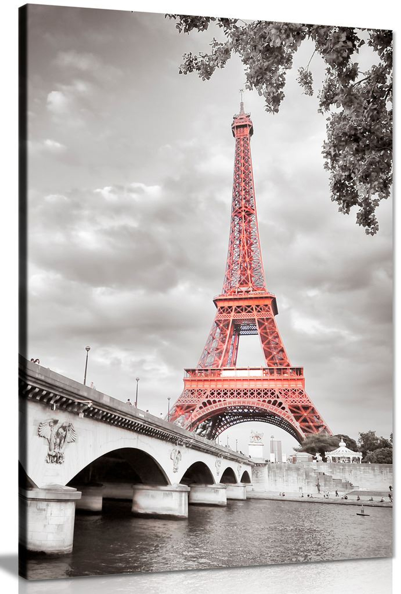 Eiffel Tower In Paris, France Modern Canvas