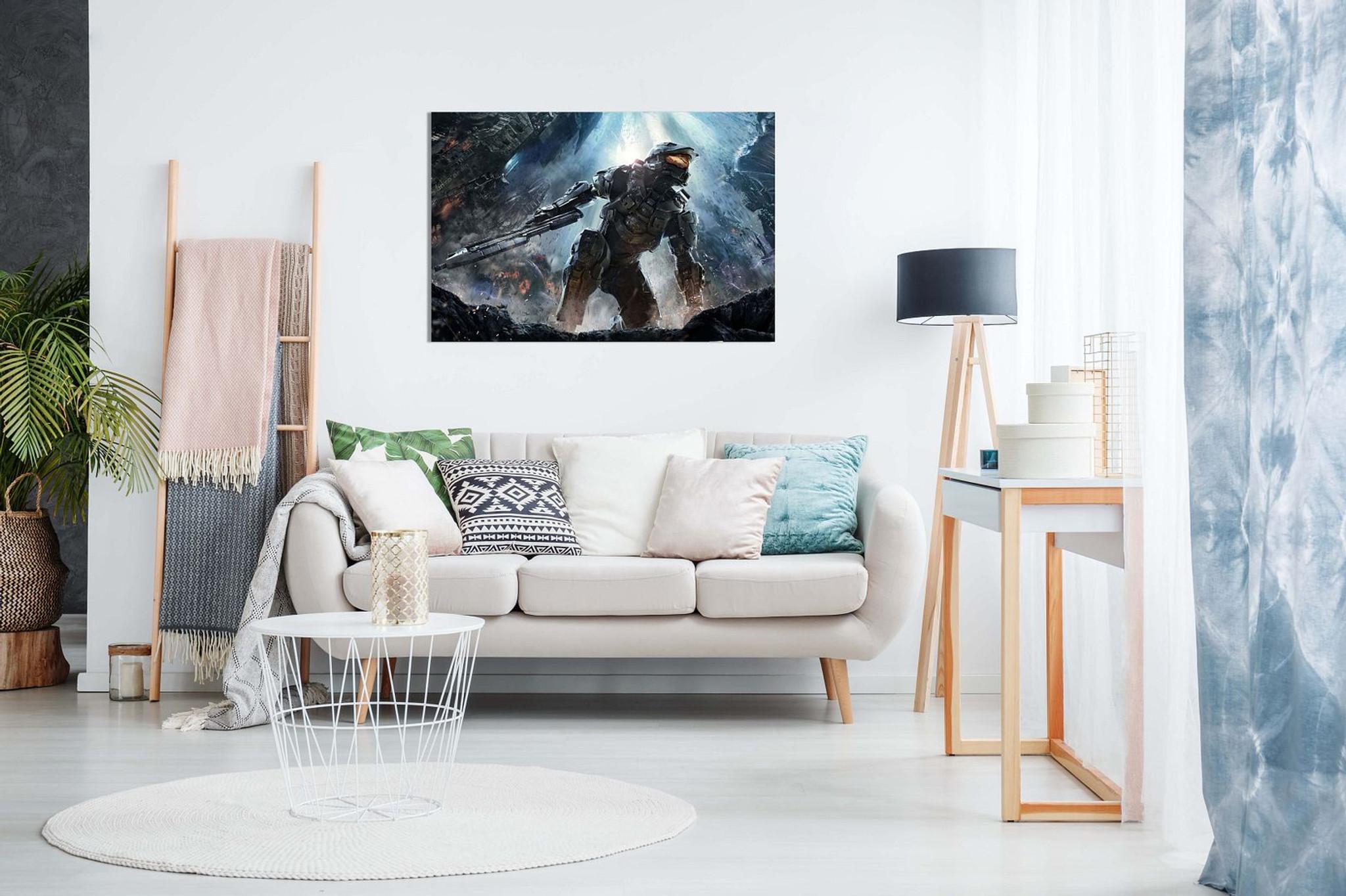 Halo Master Chief Battle Canvas