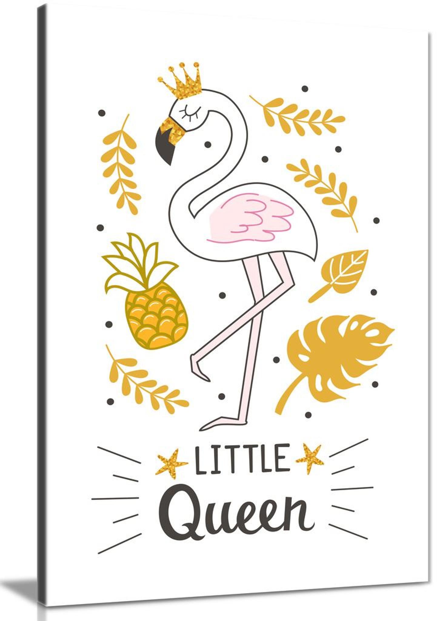 Girls Nursery Inspirational Little Queen Bedoom Canvas