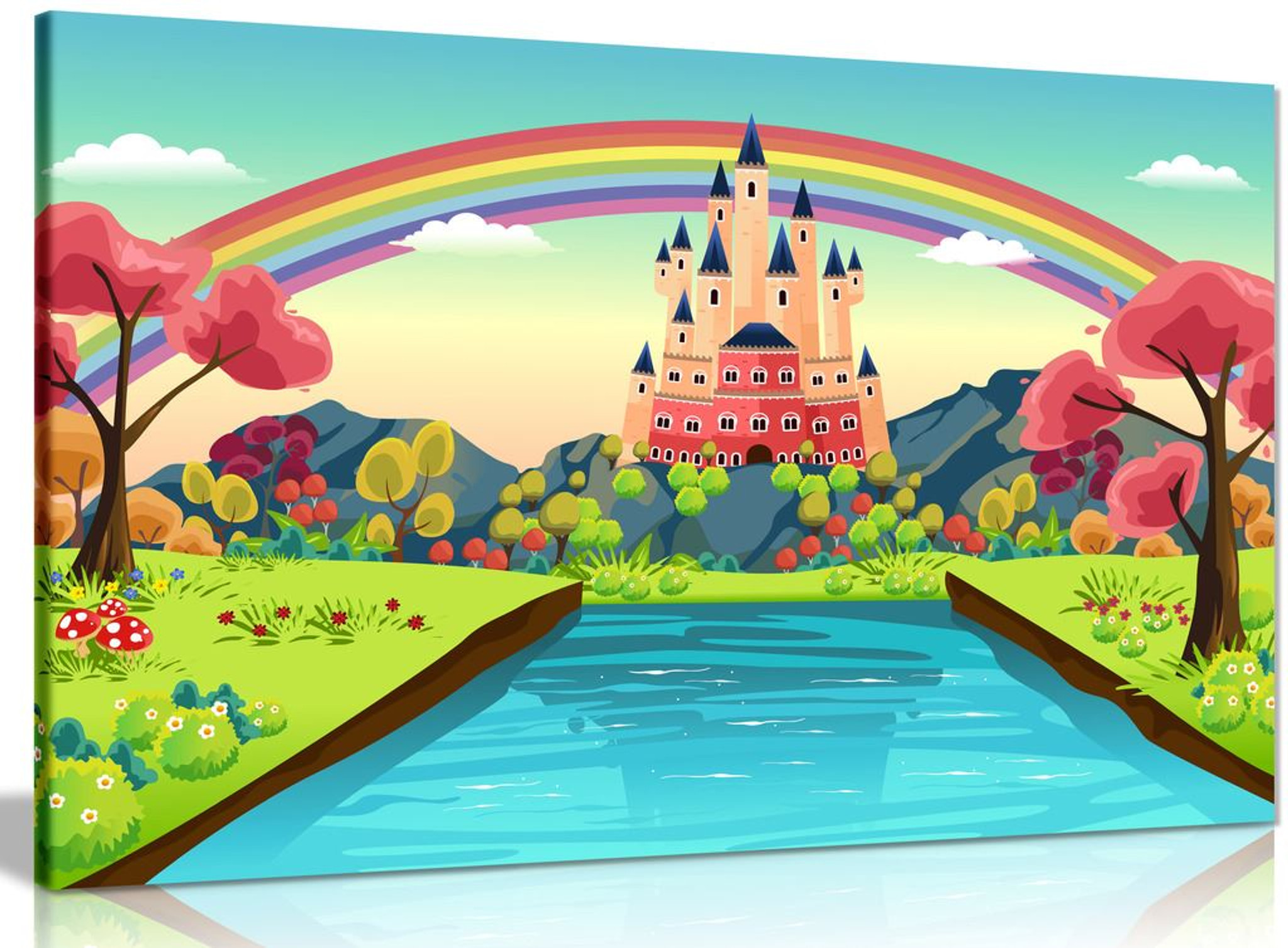 Castle Illustration Canvas
