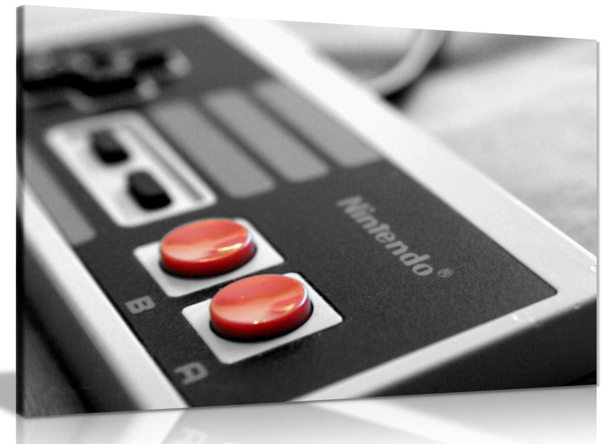 NES Gaming Controller Canvas