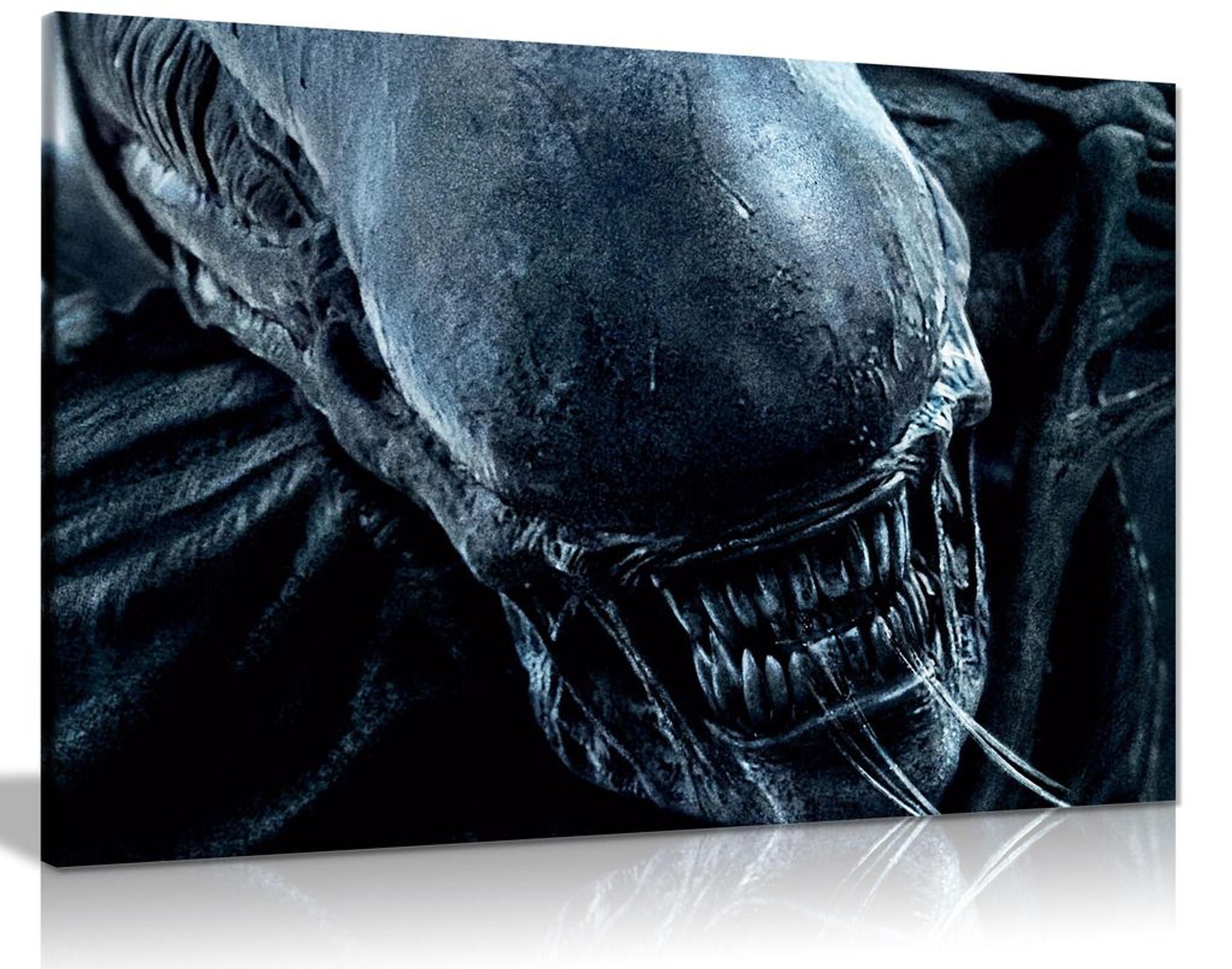 Xemomorph Space Alien Canvas