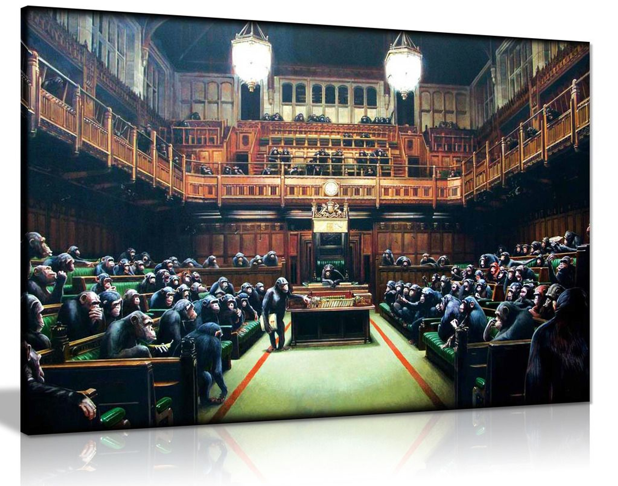 Banksy Monkey Parliament Canvas