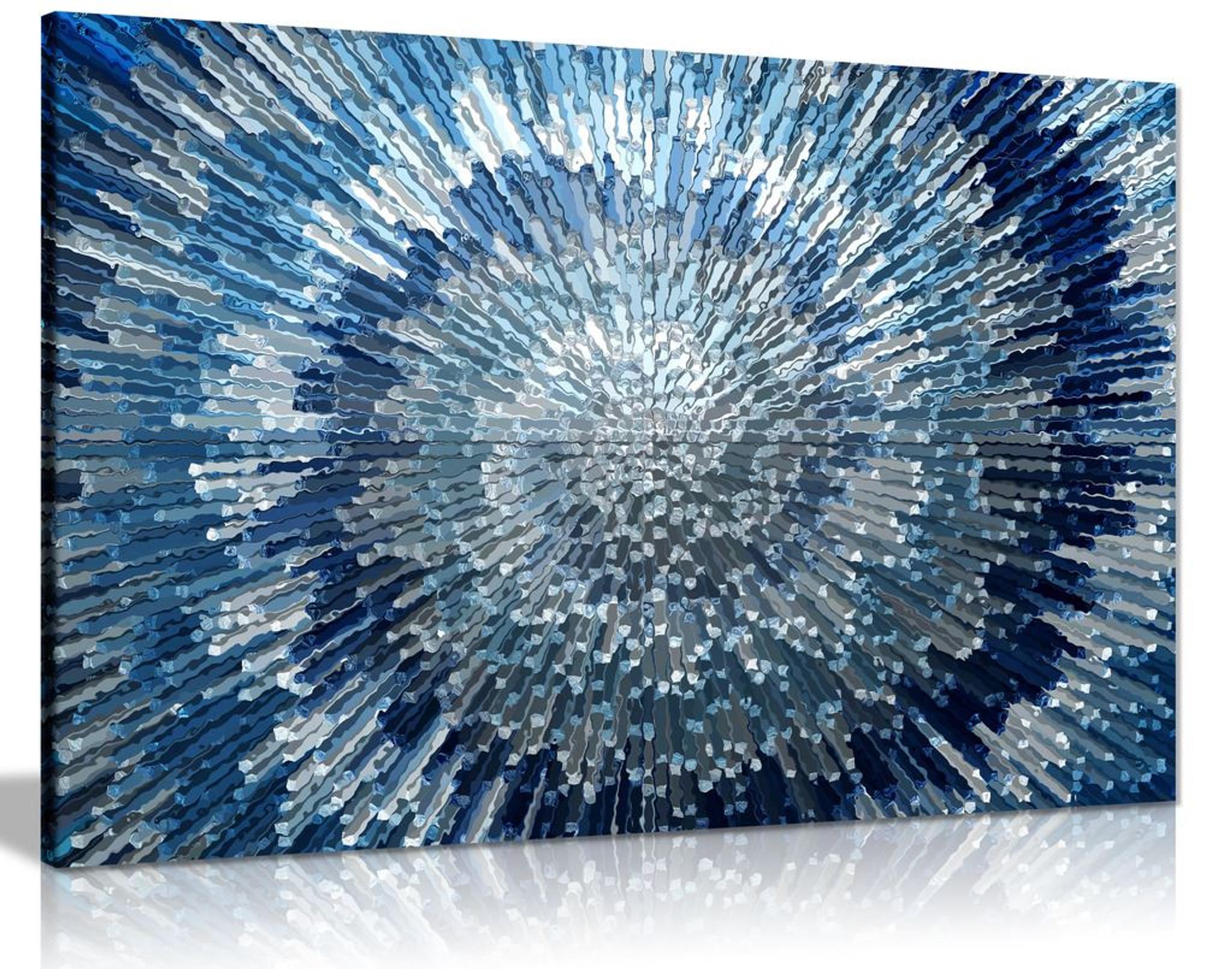 Blue silver spiral