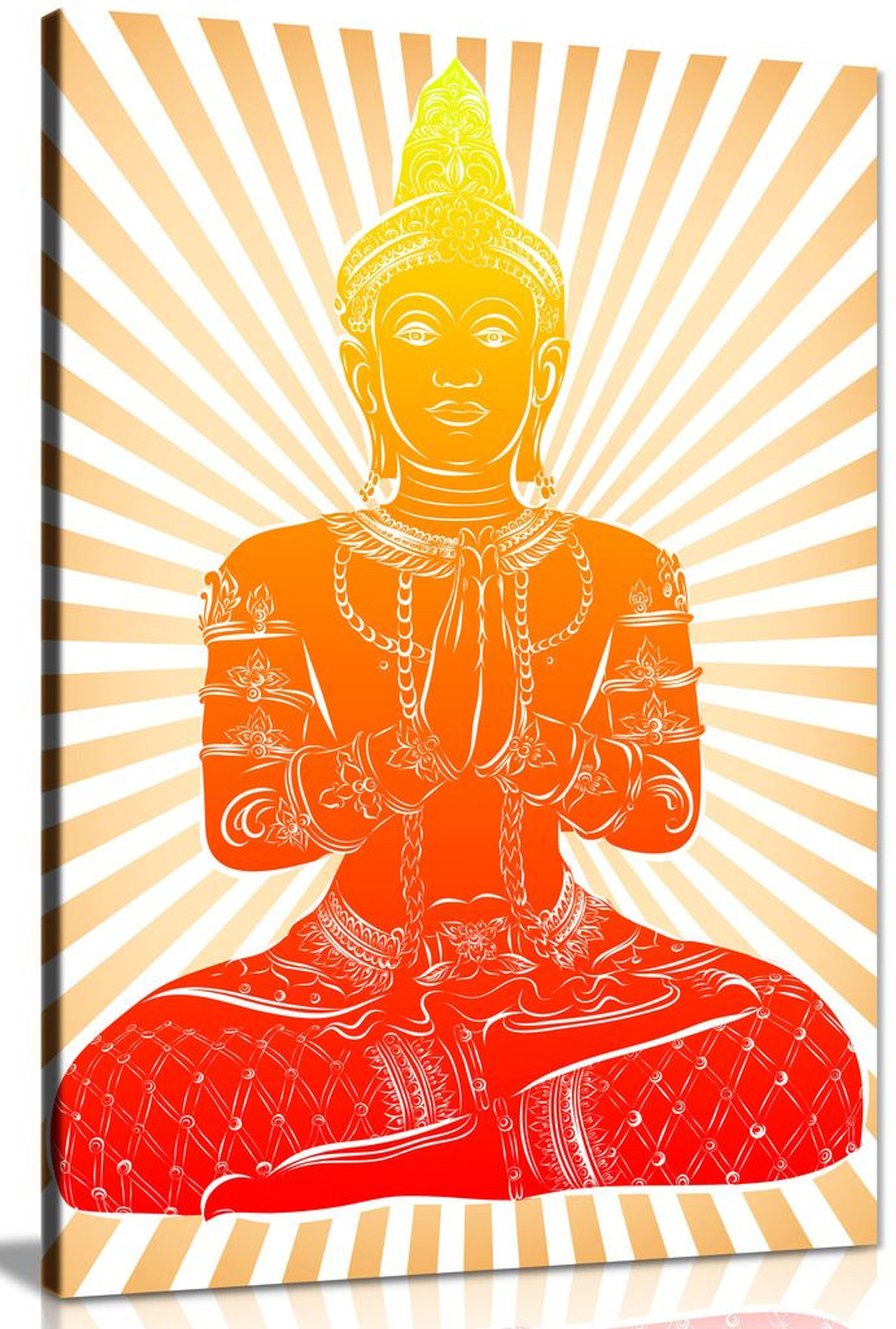 Abstract Buddha Modern Canvas