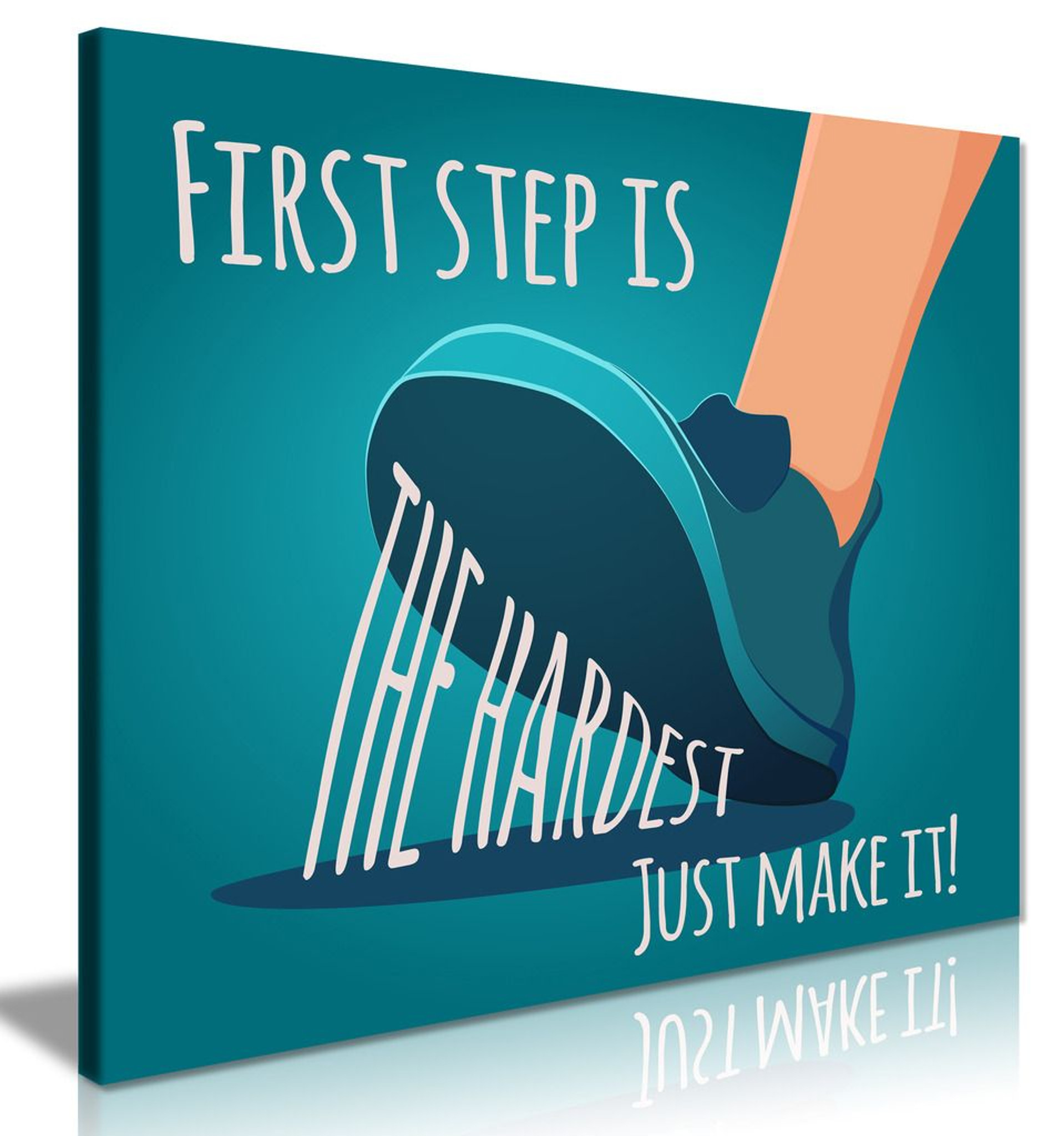 Motivating First Step Is The Hardest Canvas