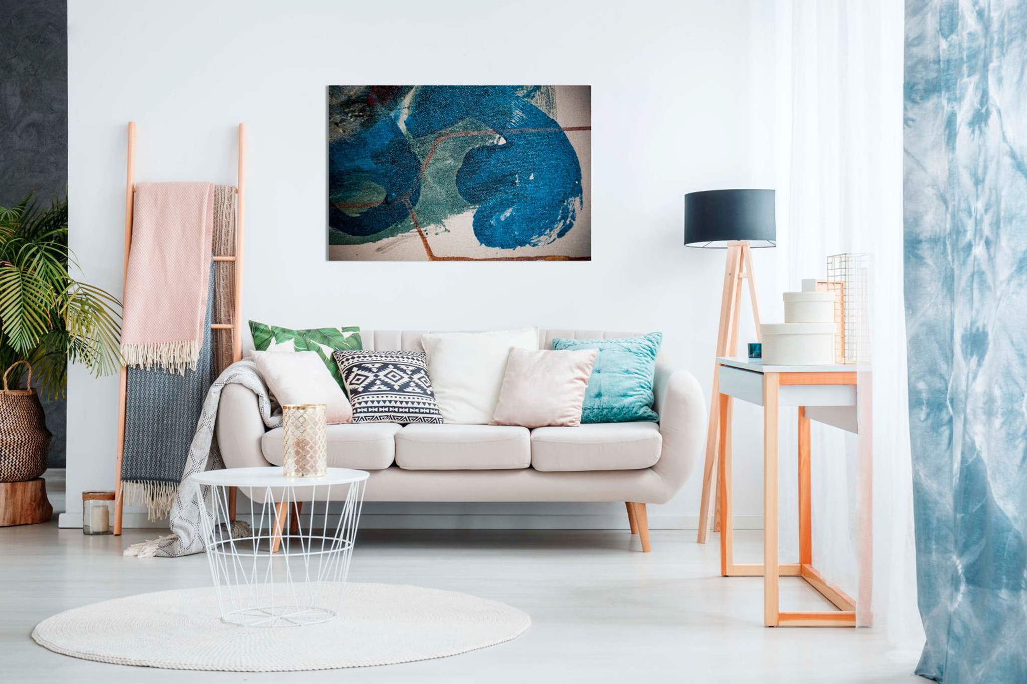 Abstract Blue Art Canvas