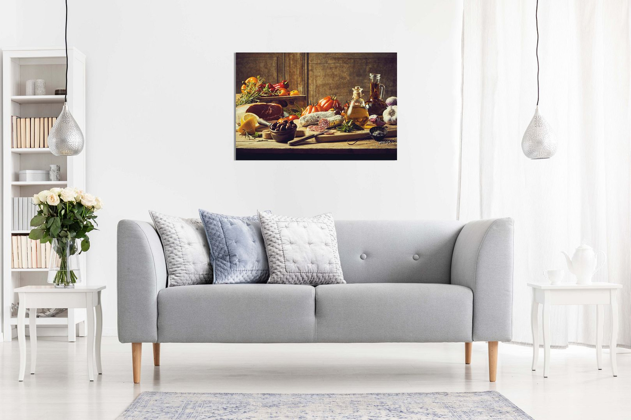 Kitchen Decor Wall Art Still Life Canvas