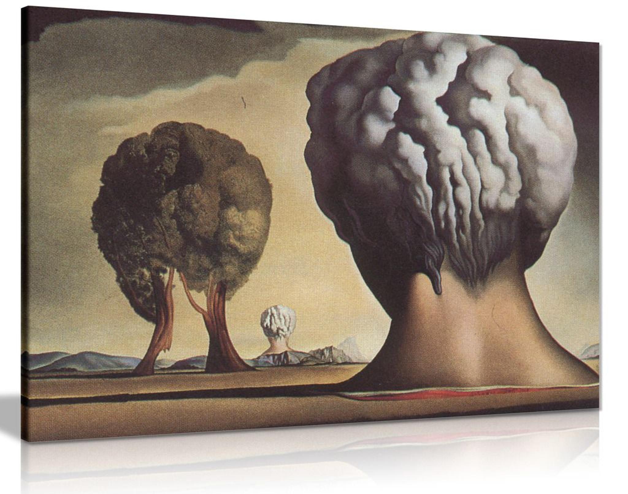 Three Sphinxes Of Bikini Salvador Dali Canvas