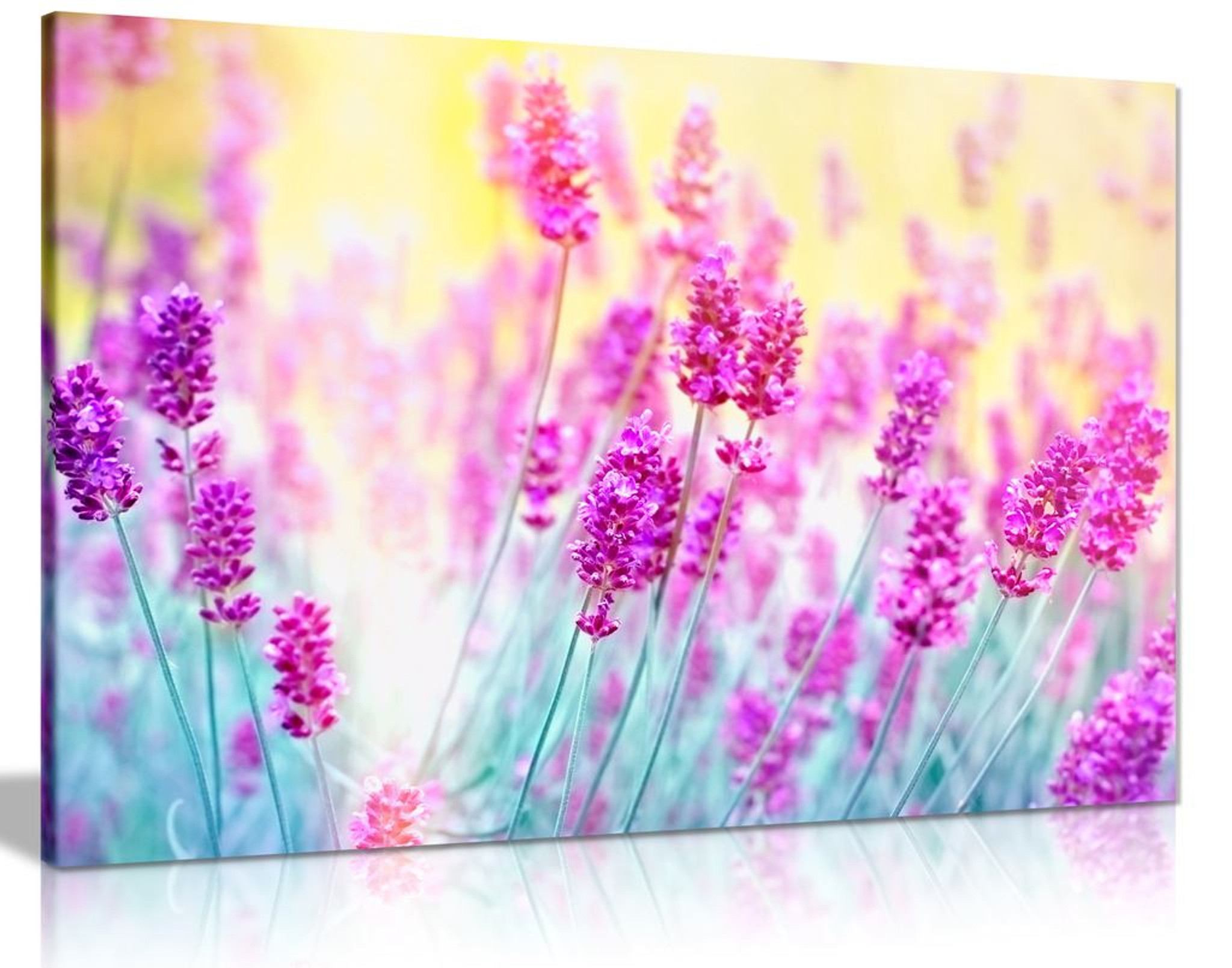 Tranquil Purple Lavender Flower Aromatherapy Herbal Canvas