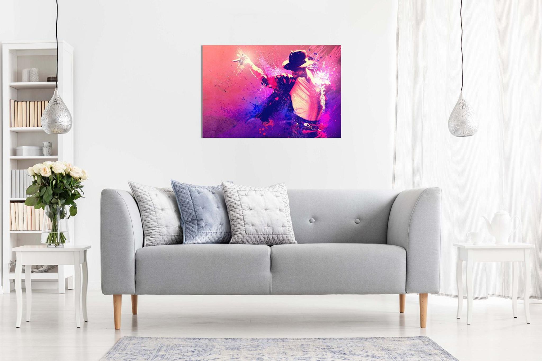 Micheal Jackson Dance Colors Canvas