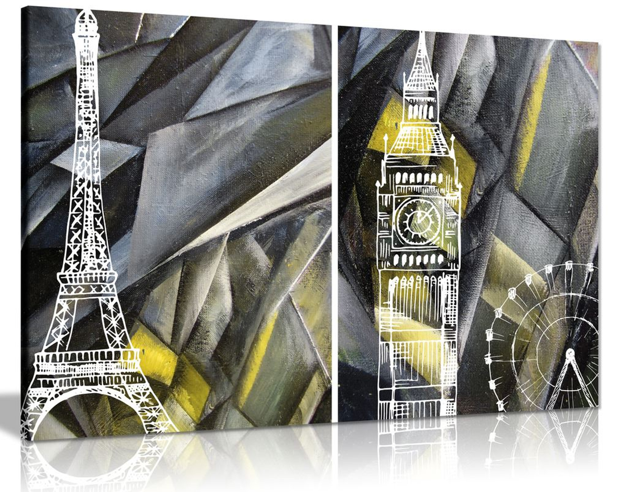Paris London Yellow white black