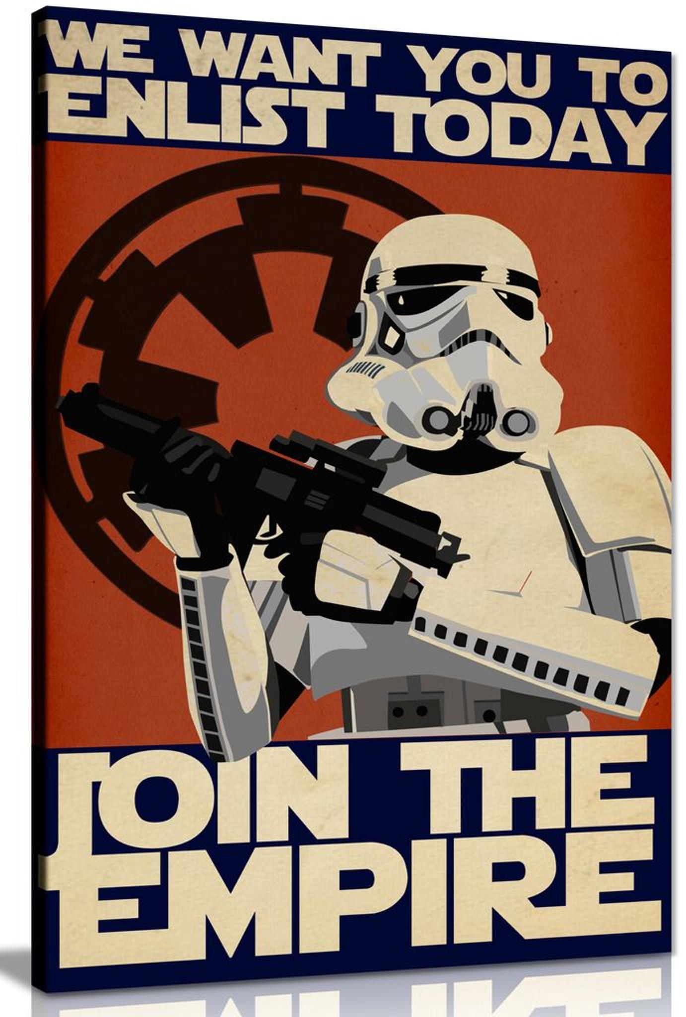 Star Wars Propaganda Enlist Join The Empire Canvas