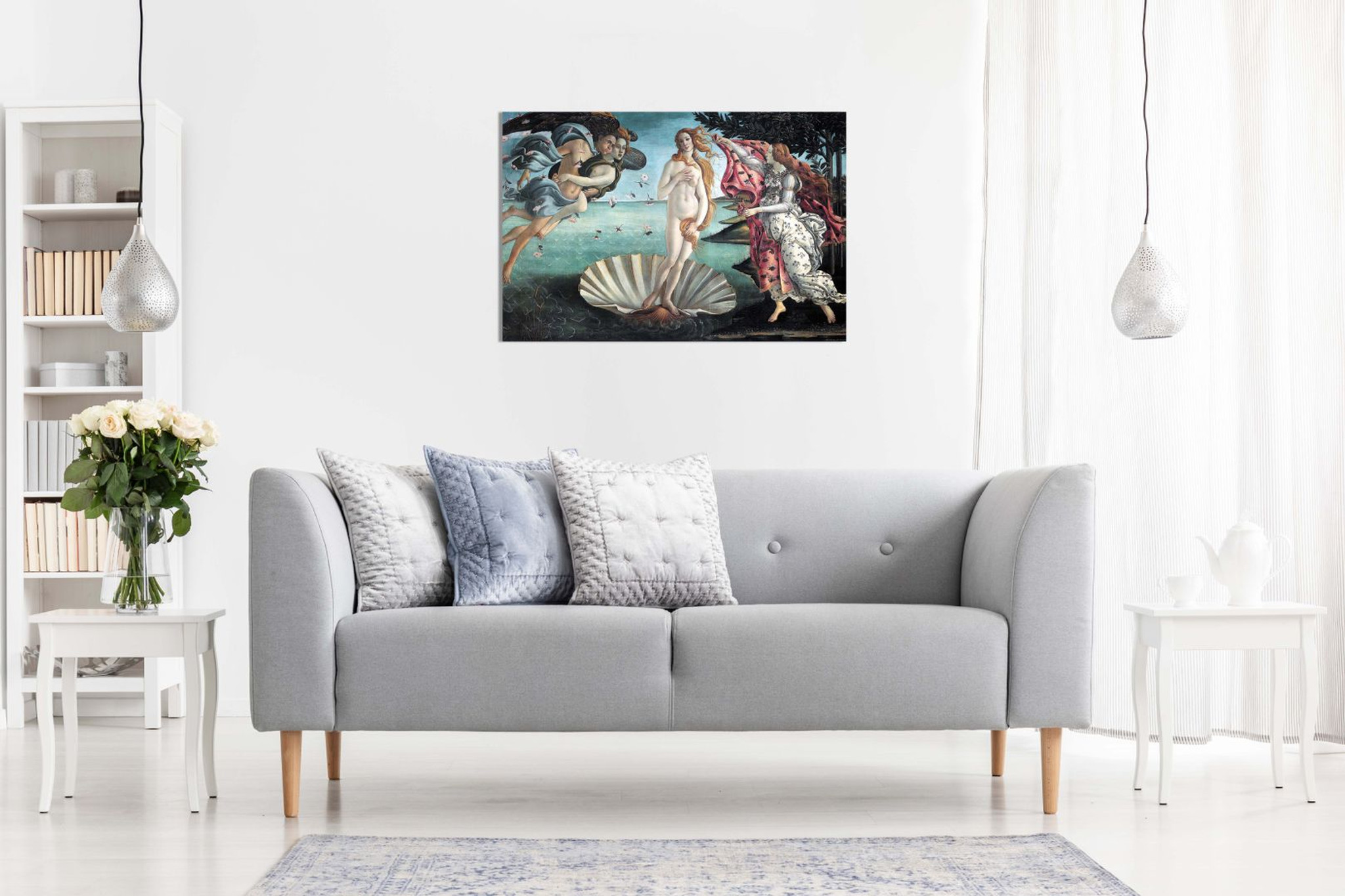 The Birth Of Venus Painting By Sandro Botticelli Canvas