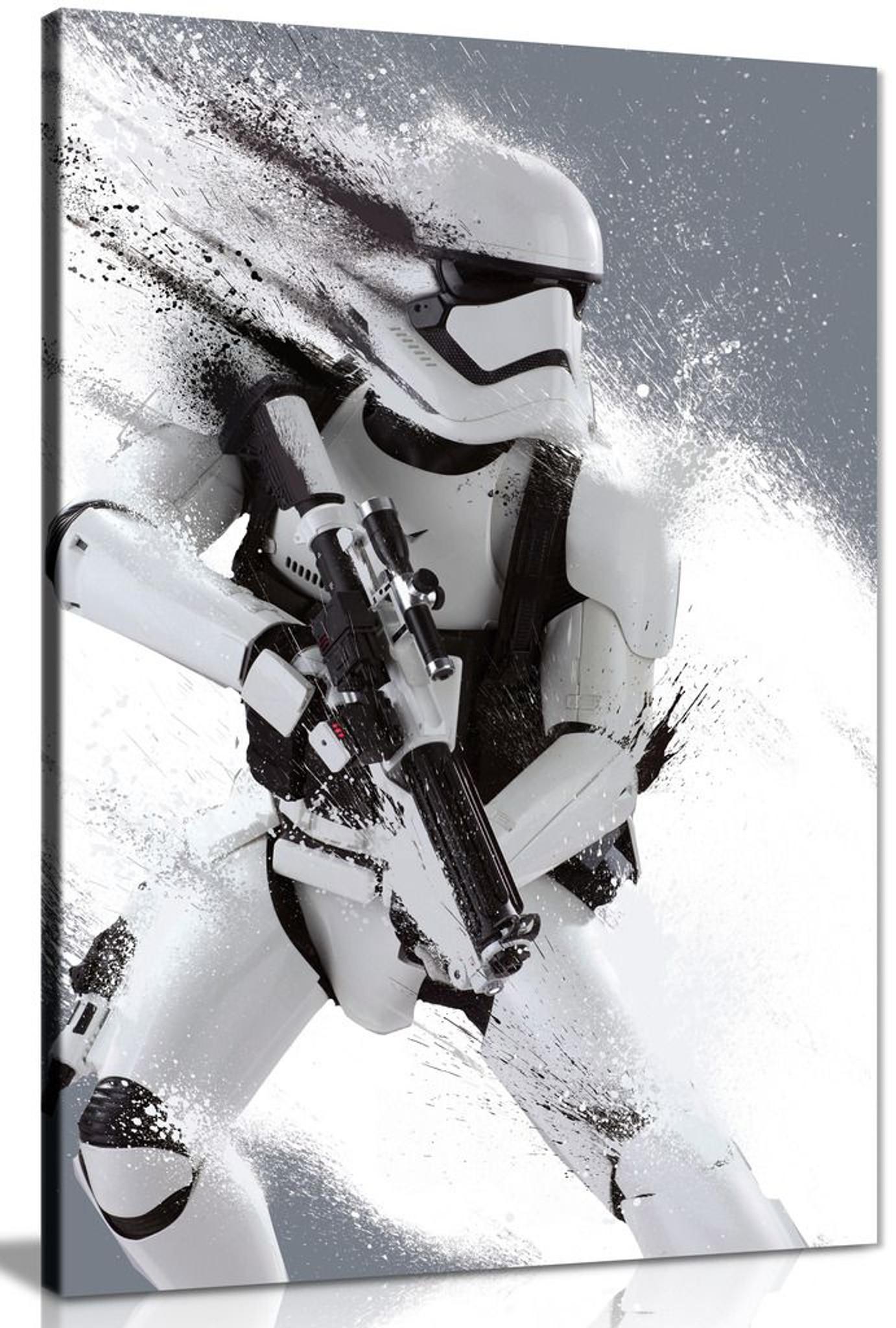 Star Wars Stormtrooper Portrait Black And Whte Canvas