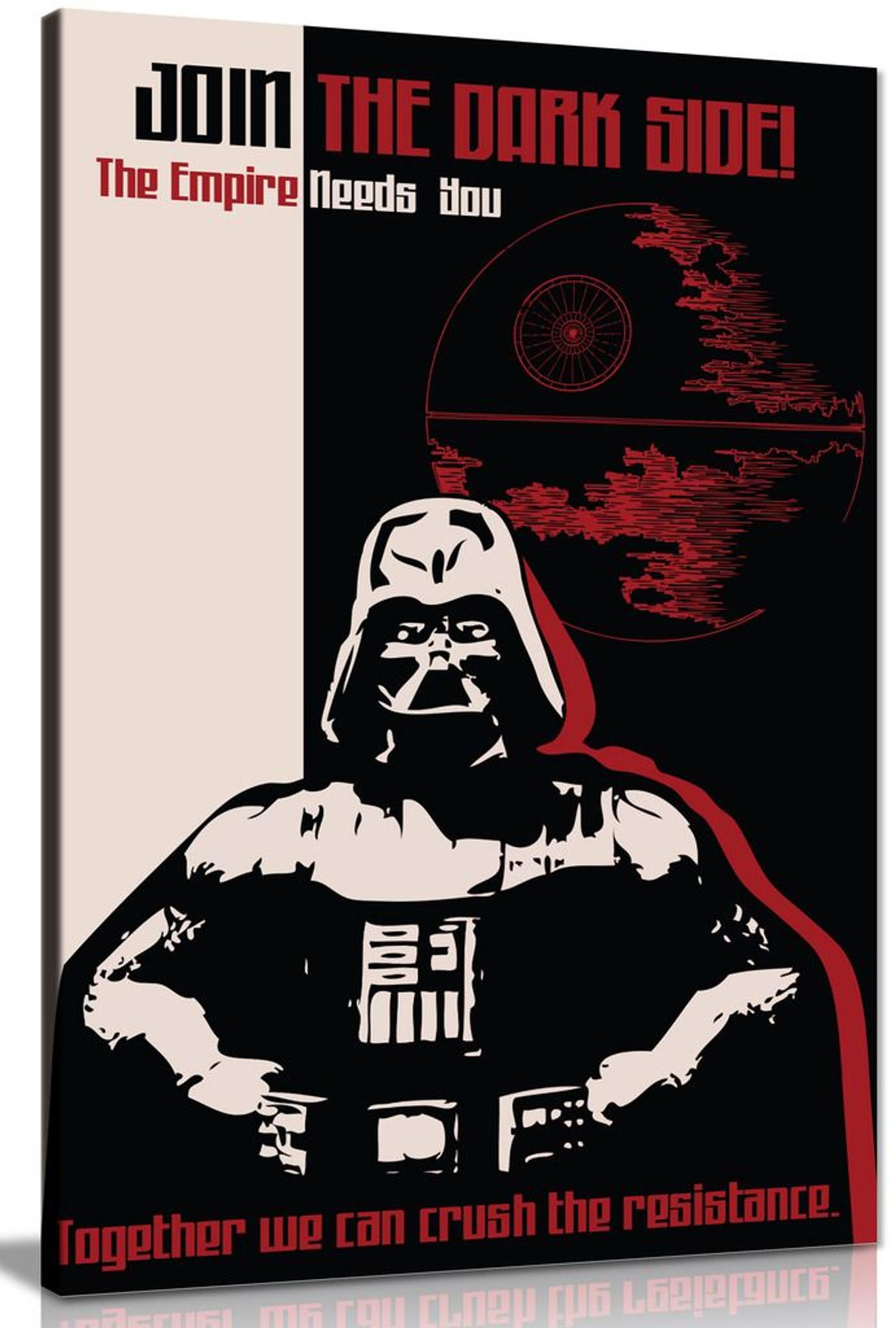 Star Wars Propaganda Join The Dark Side Canvas