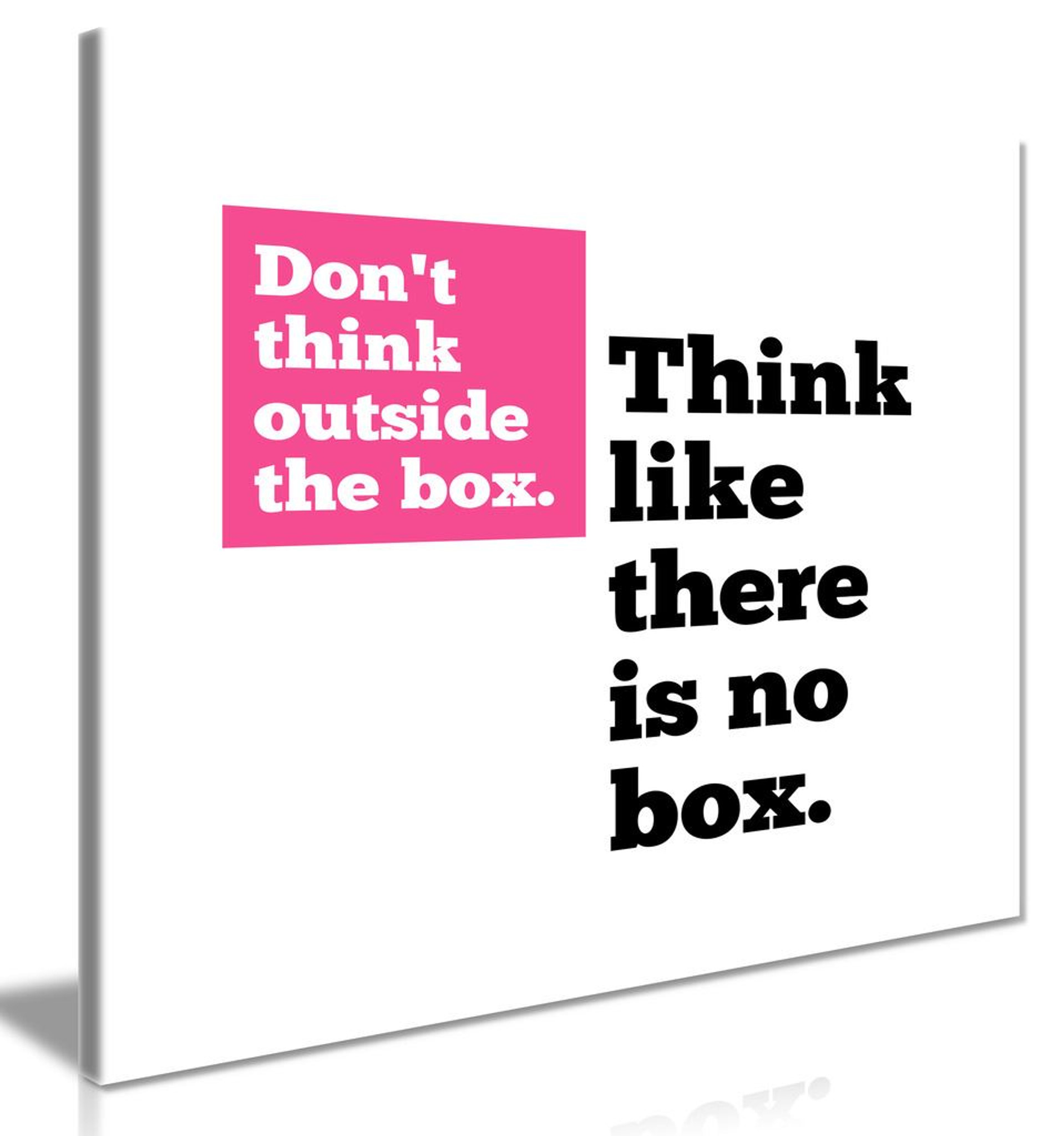 Motivational Quote Think Outside The Box Canvas
