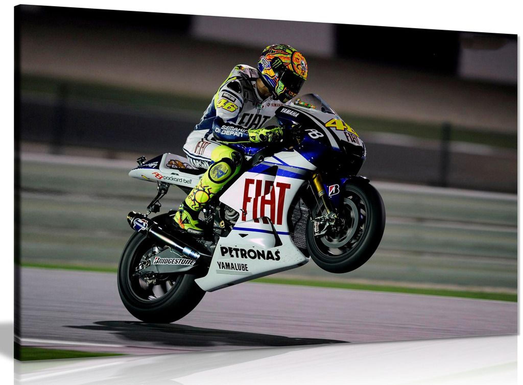 Valentino Rossi Moto Gp Canvas