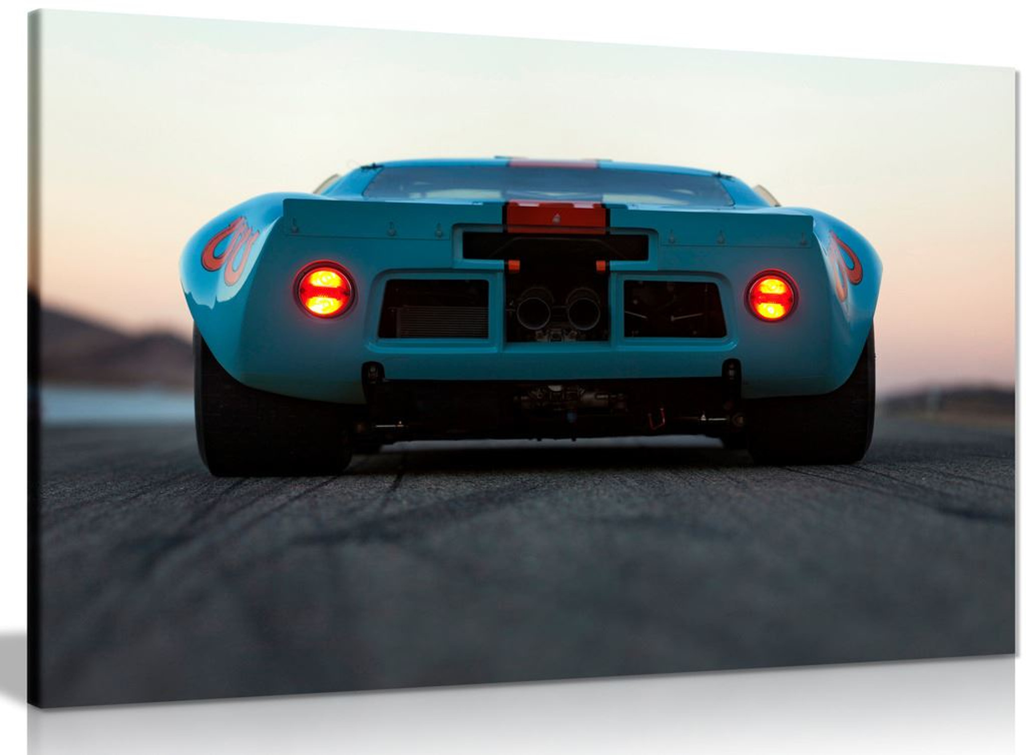 Ford Gt40 Gulf Oil Livery Le Mans 1968 Canvas