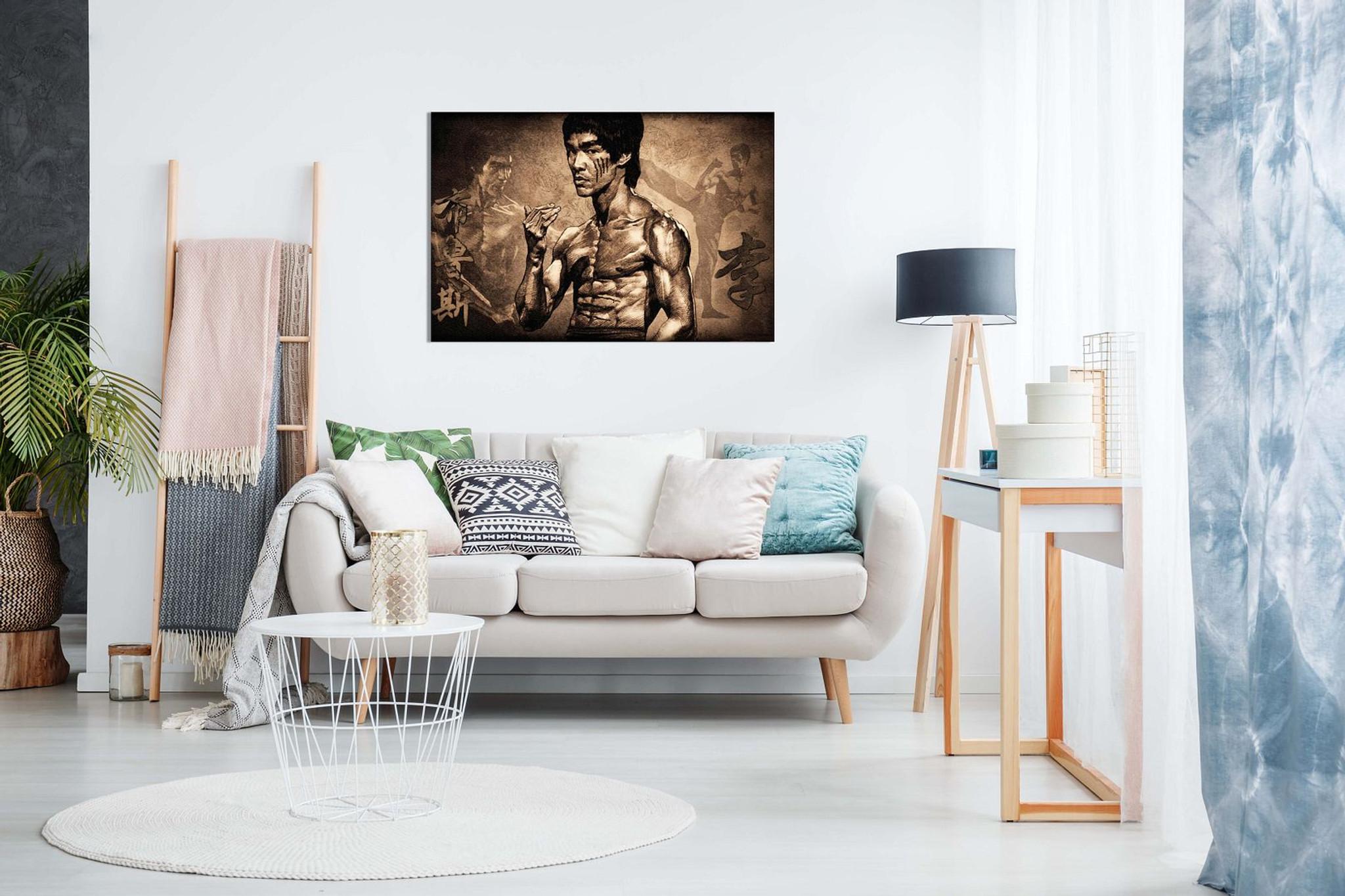 Bruce Lee Martial Arts Canvas