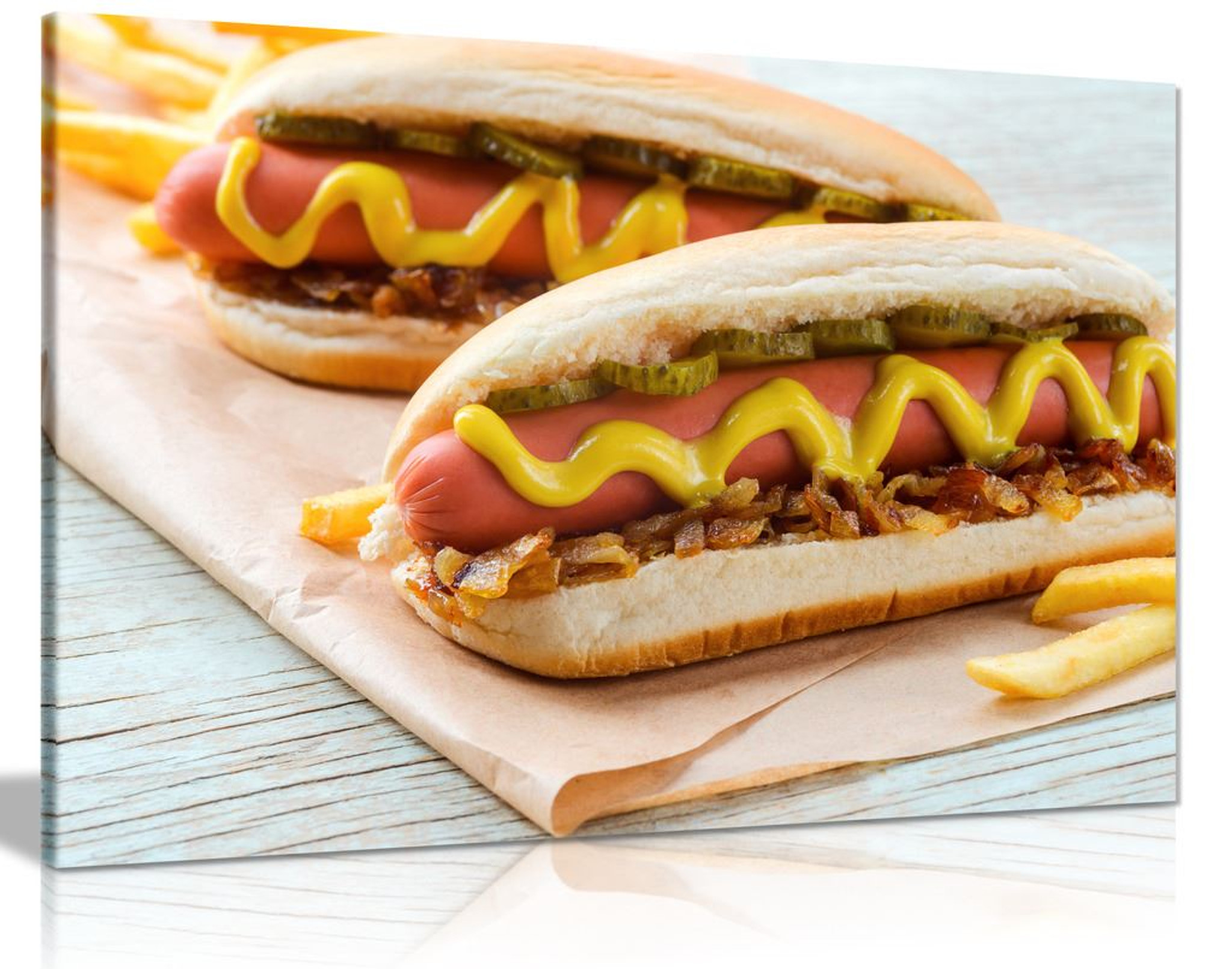 American Hot Dogs With Sausage Canvas