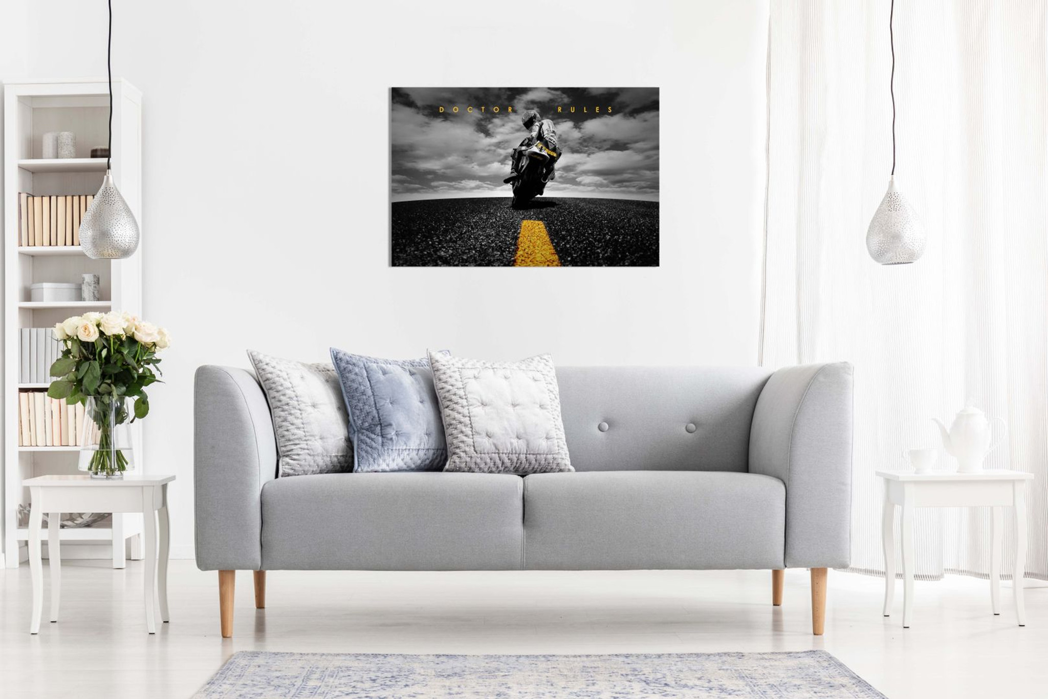 Doctor Rules Valentino Rossi Yamaha Motogp Canvas