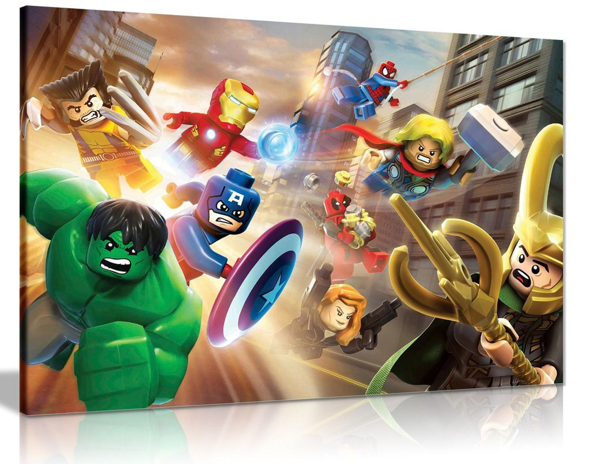 Lego The Avengers Canvas