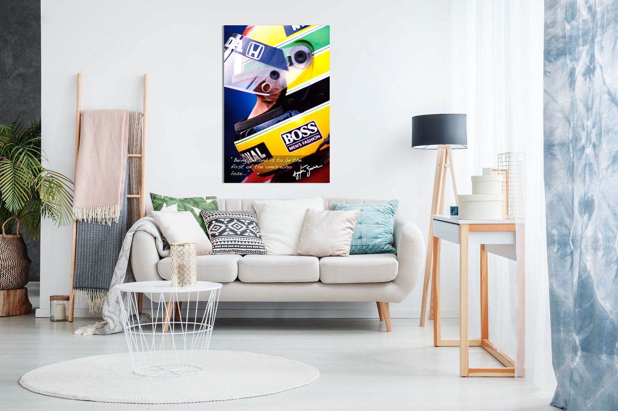 Ayrton Senna Quote F1 Canvas