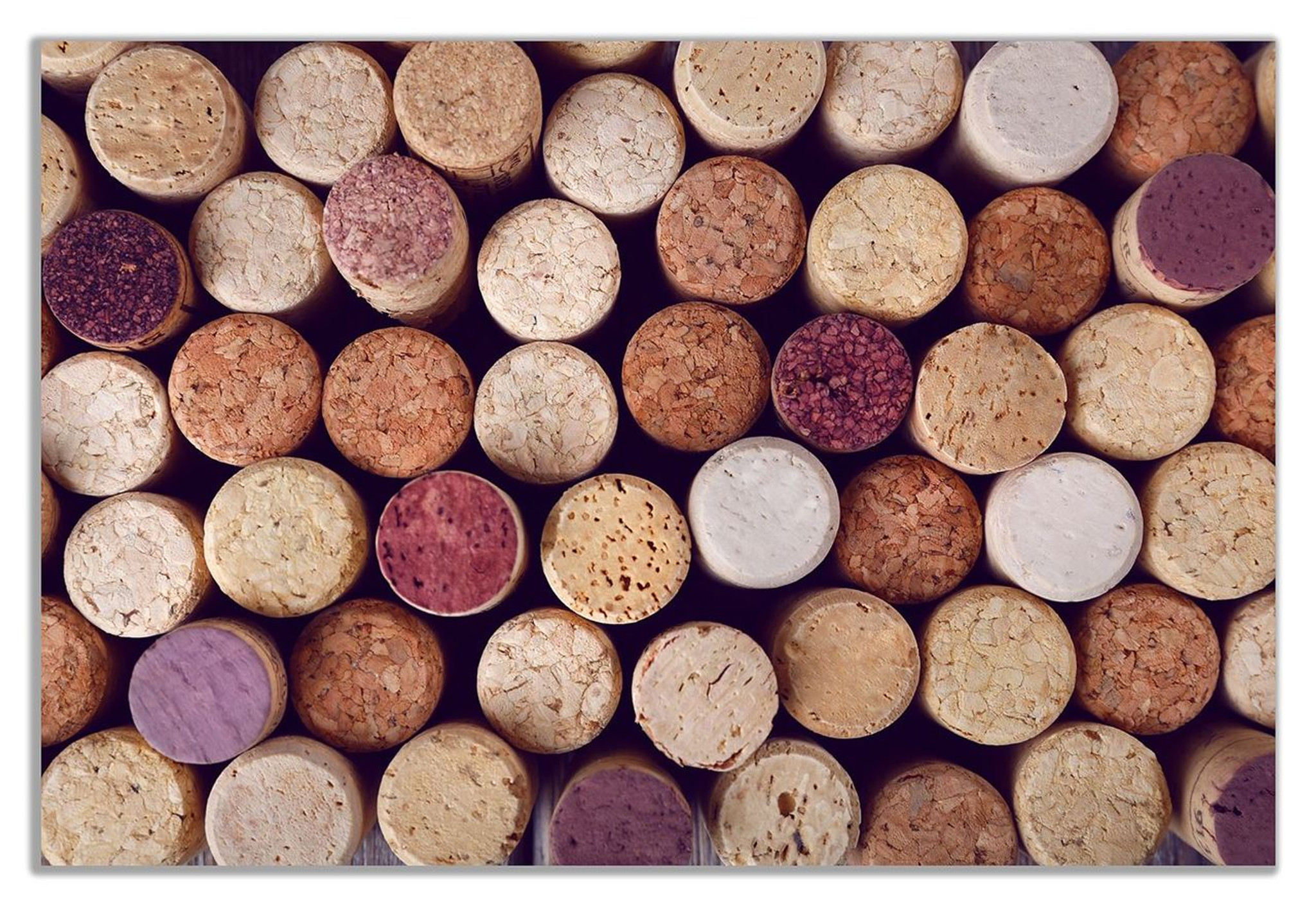 Wine Corks Canvas Wall Art Picture Print