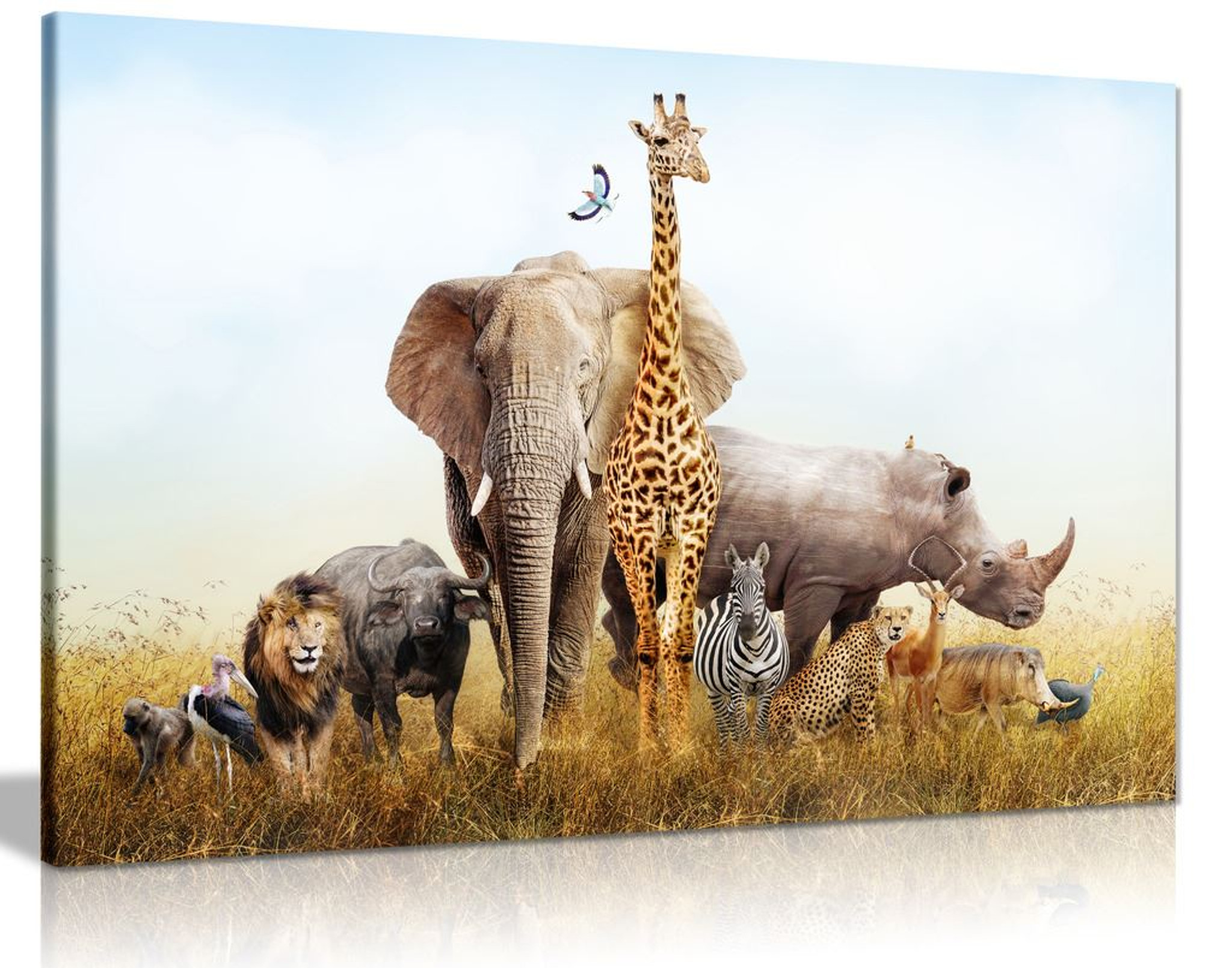 Safari Animals Canvas Wall Art Picture Print