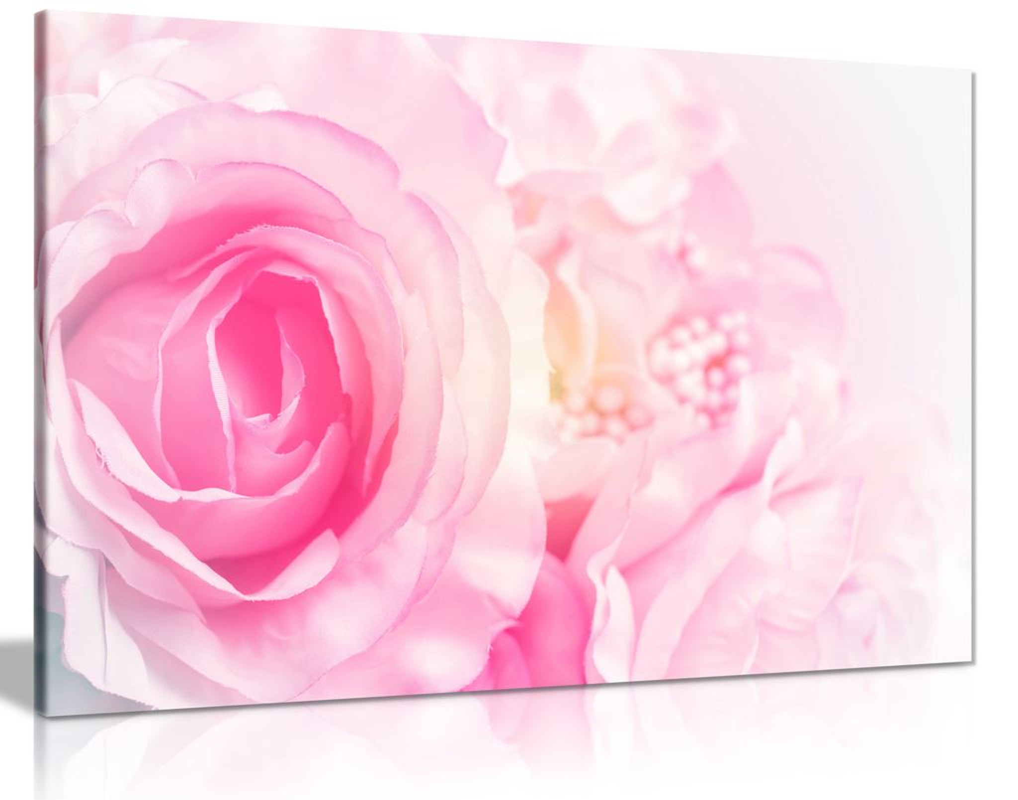 Rose Blossom Pink Canvas Wall Art Picture Print